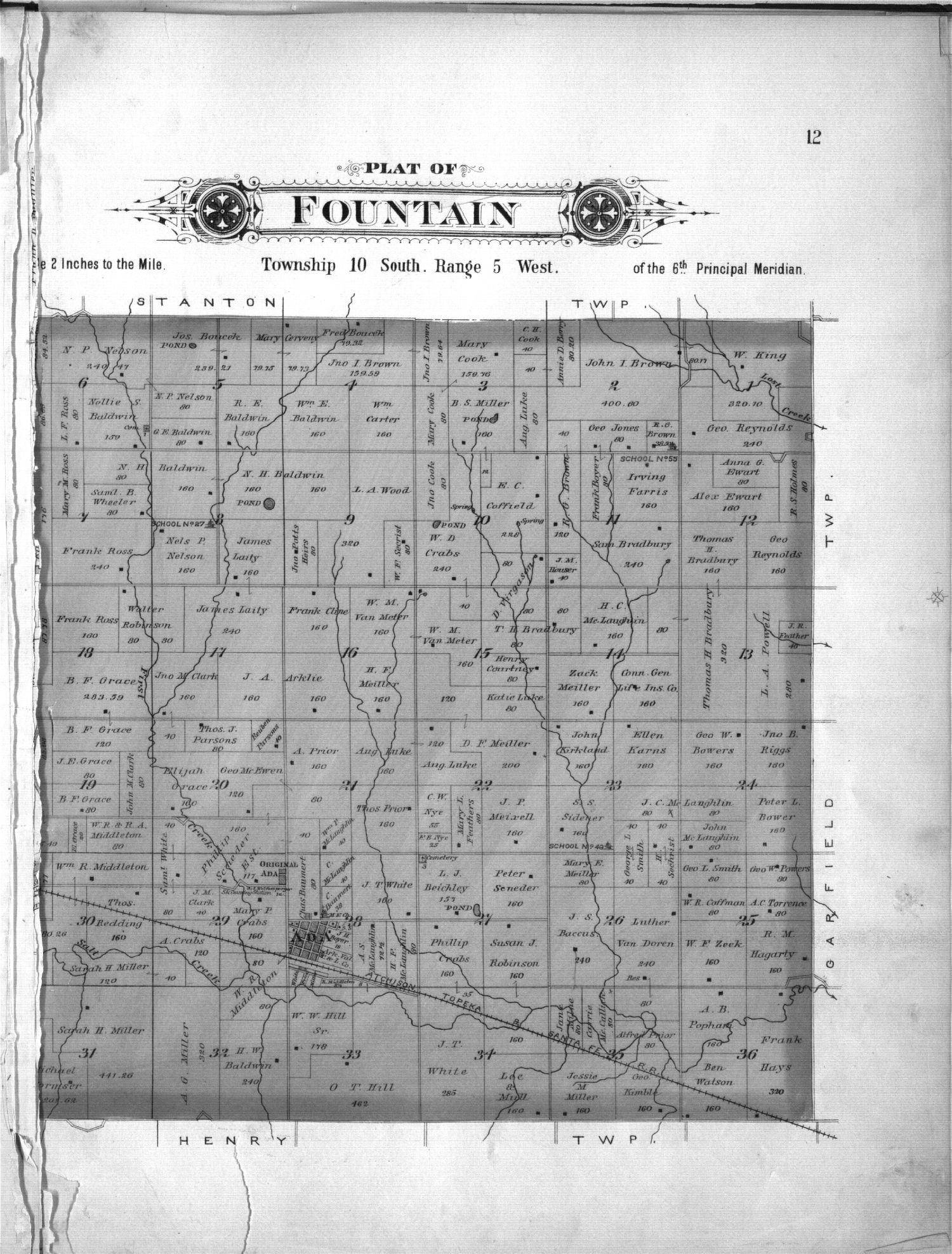 Plat book of Ottawa County, Kansas - 12