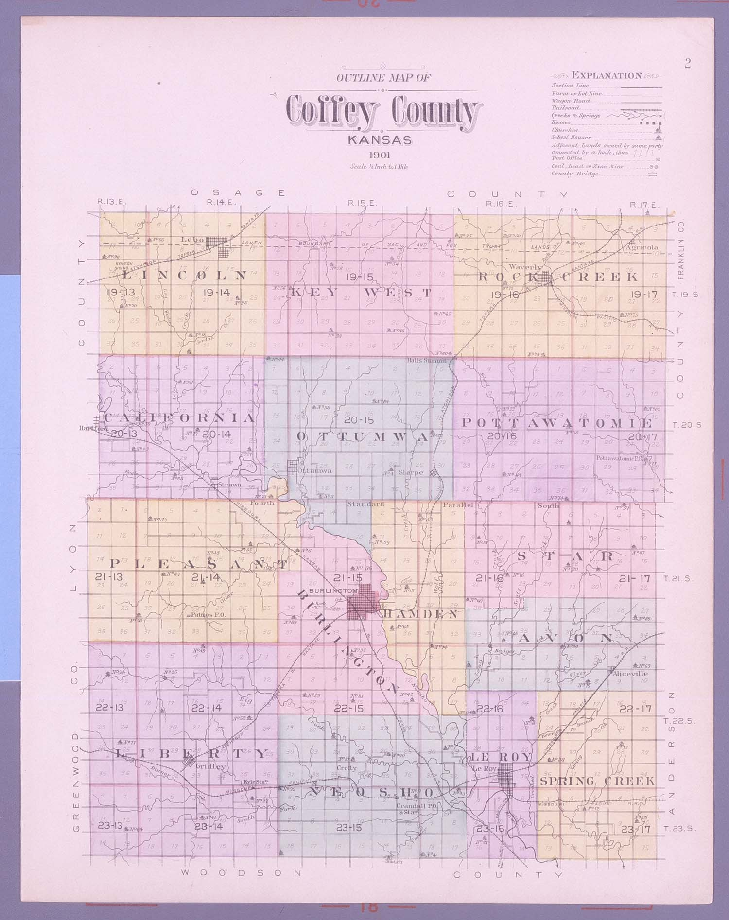 Plat book, Coffey County, Kansas - 2