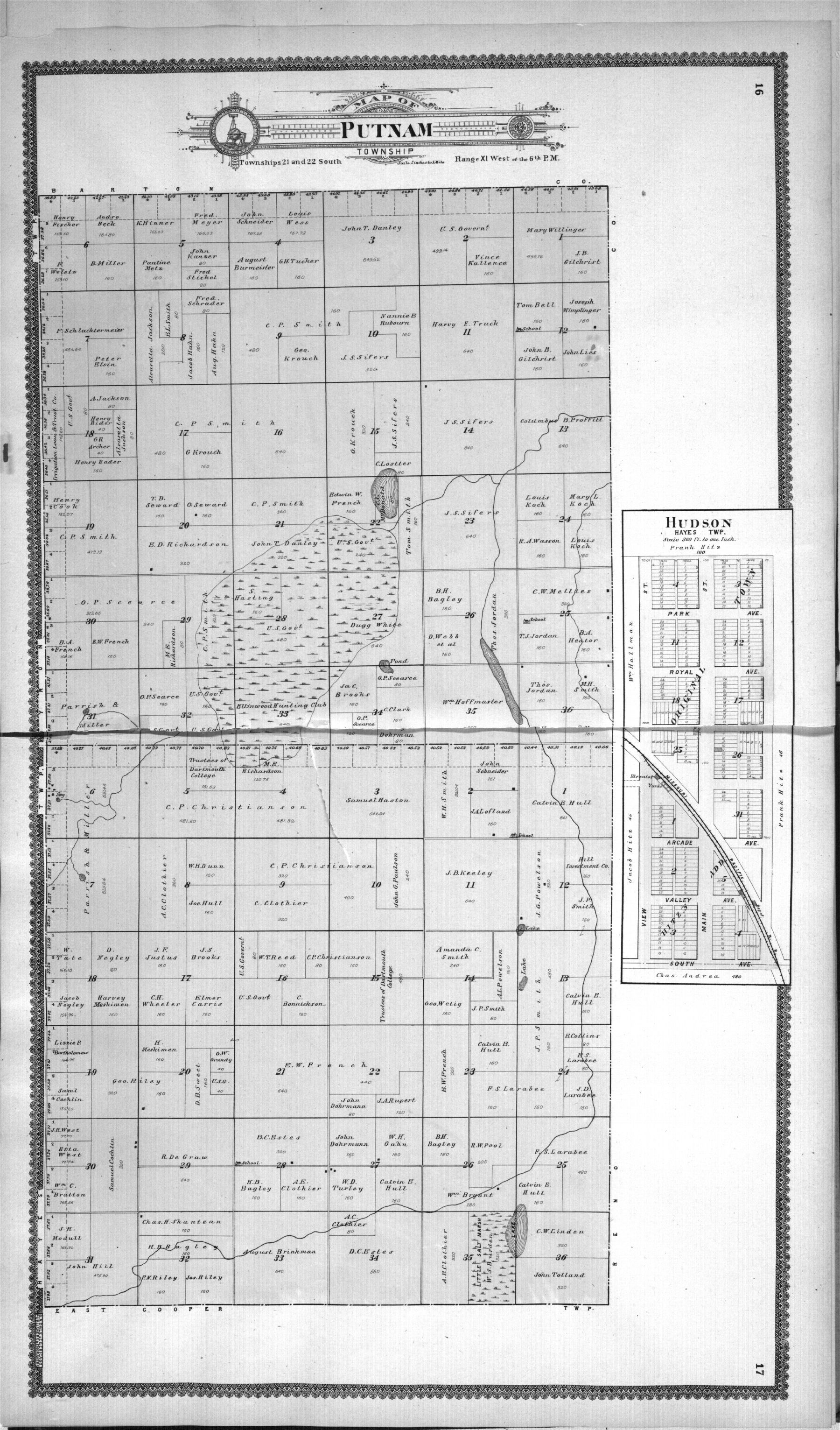 Standard atlas of Stafford County, Kansas - 16 & 17