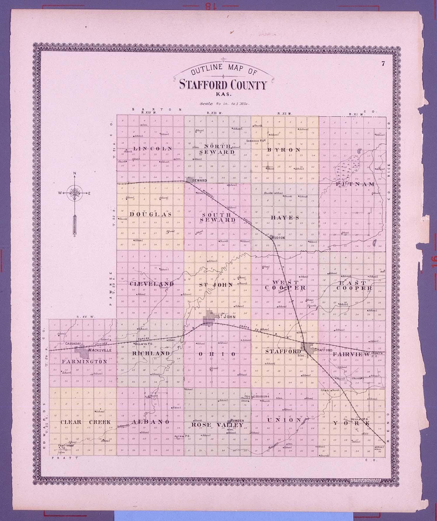Standard atlas of Stafford County, Kansas - 7