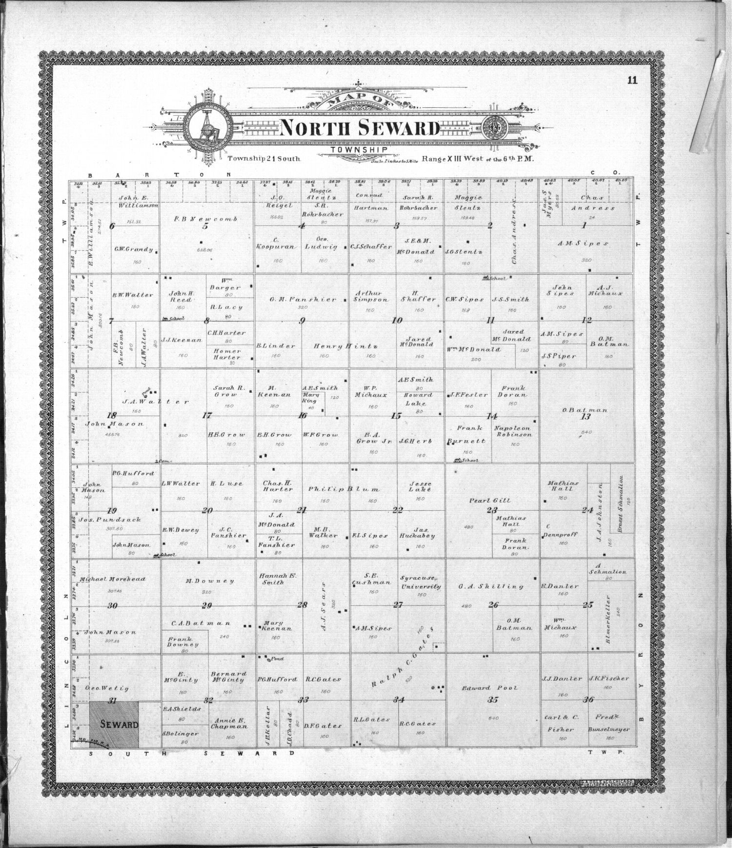Standard atlas of Stafford County, Kansas - 11