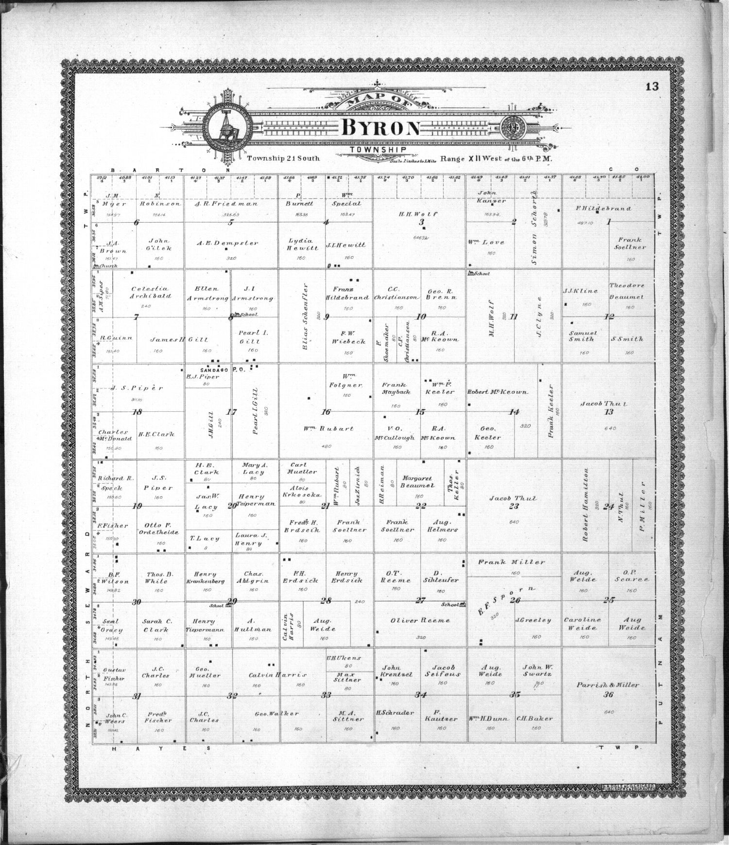 Standard atlas of Stafford County, Kansas - 13