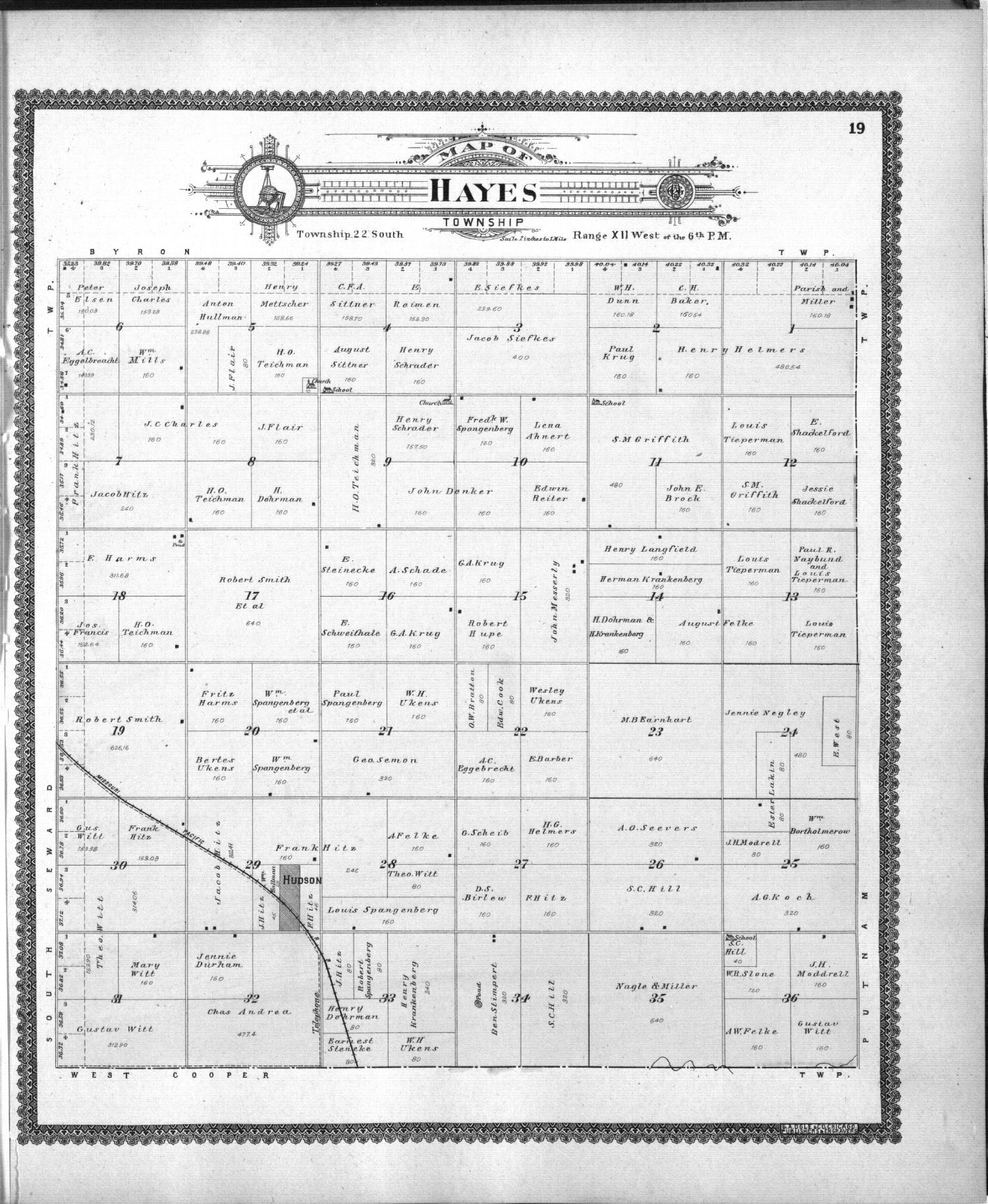 Standard atlas of Stafford County, Kansas - 19
