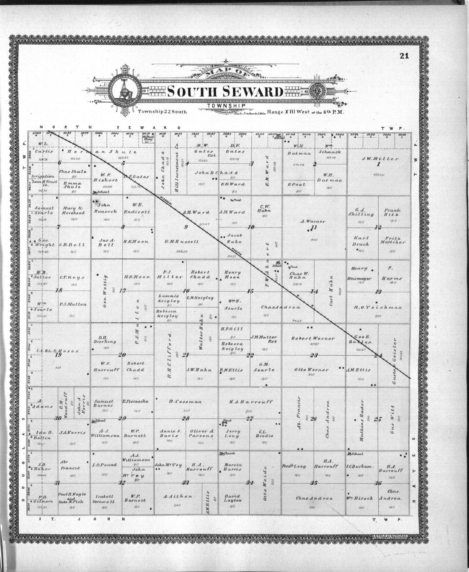 Standard atlas of Stafford County, Kansas - 21