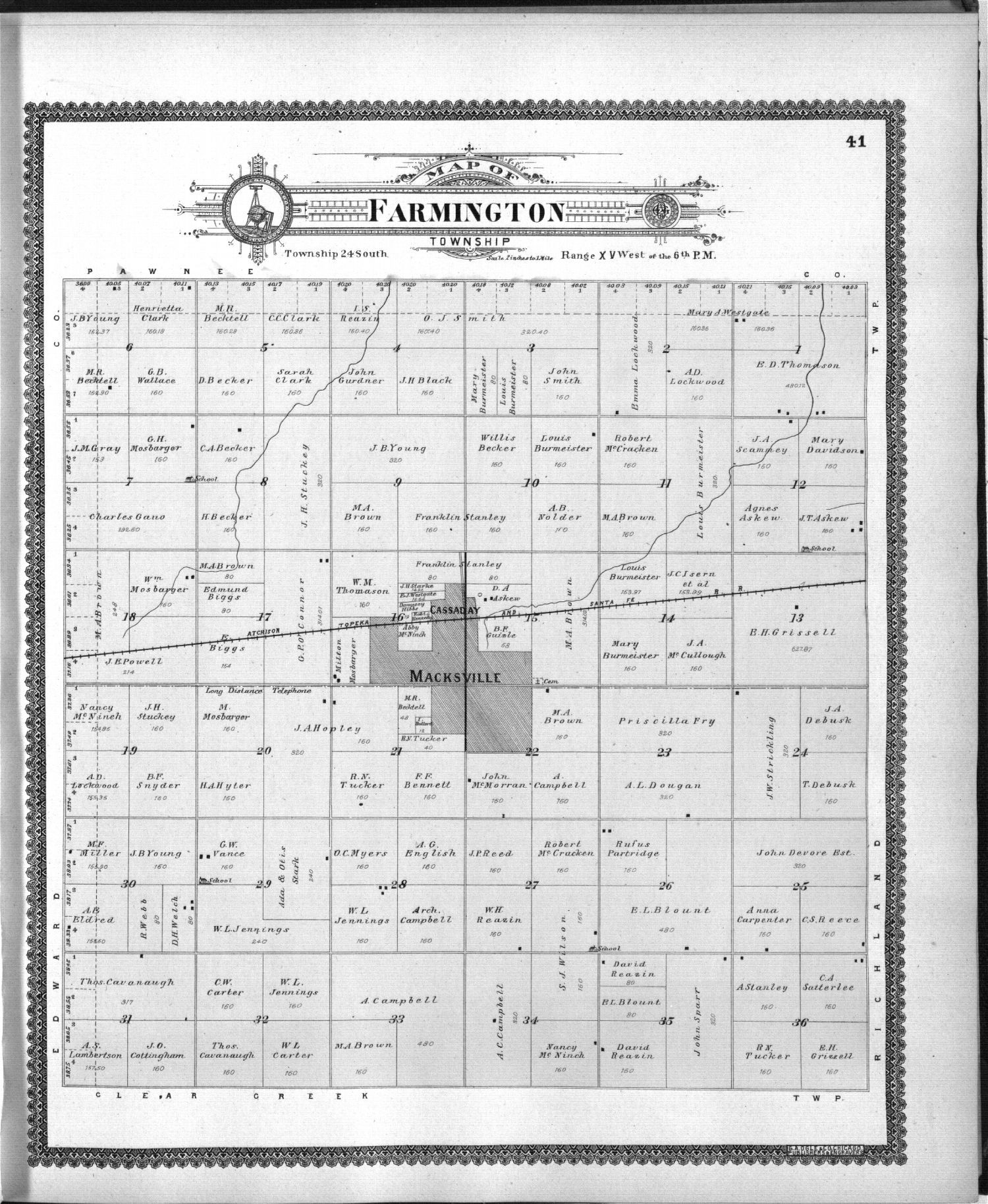 Standard atlas of Stafford County, Kansas - 41