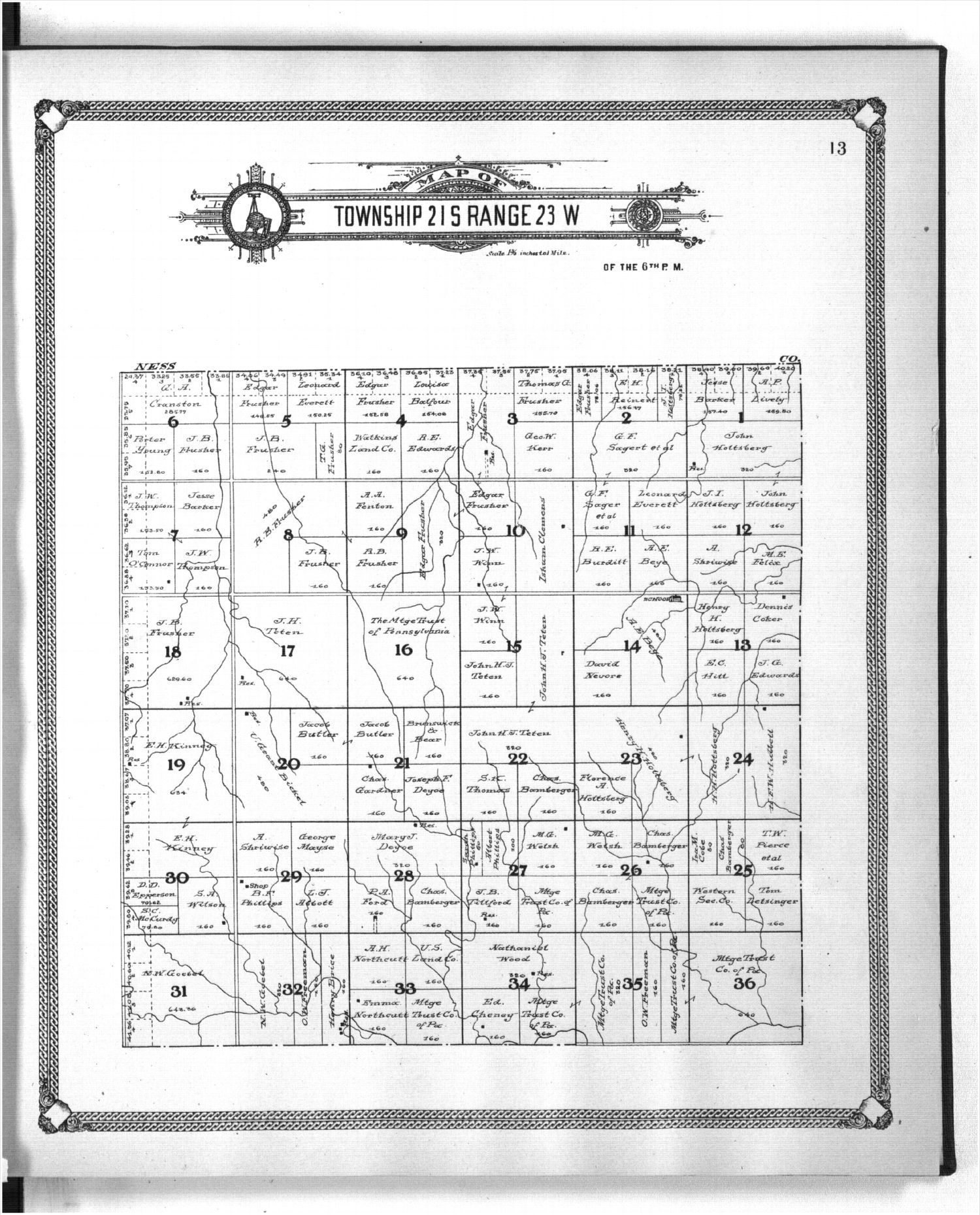 Standard atlas of Hodgeman County, Kansas - 13
