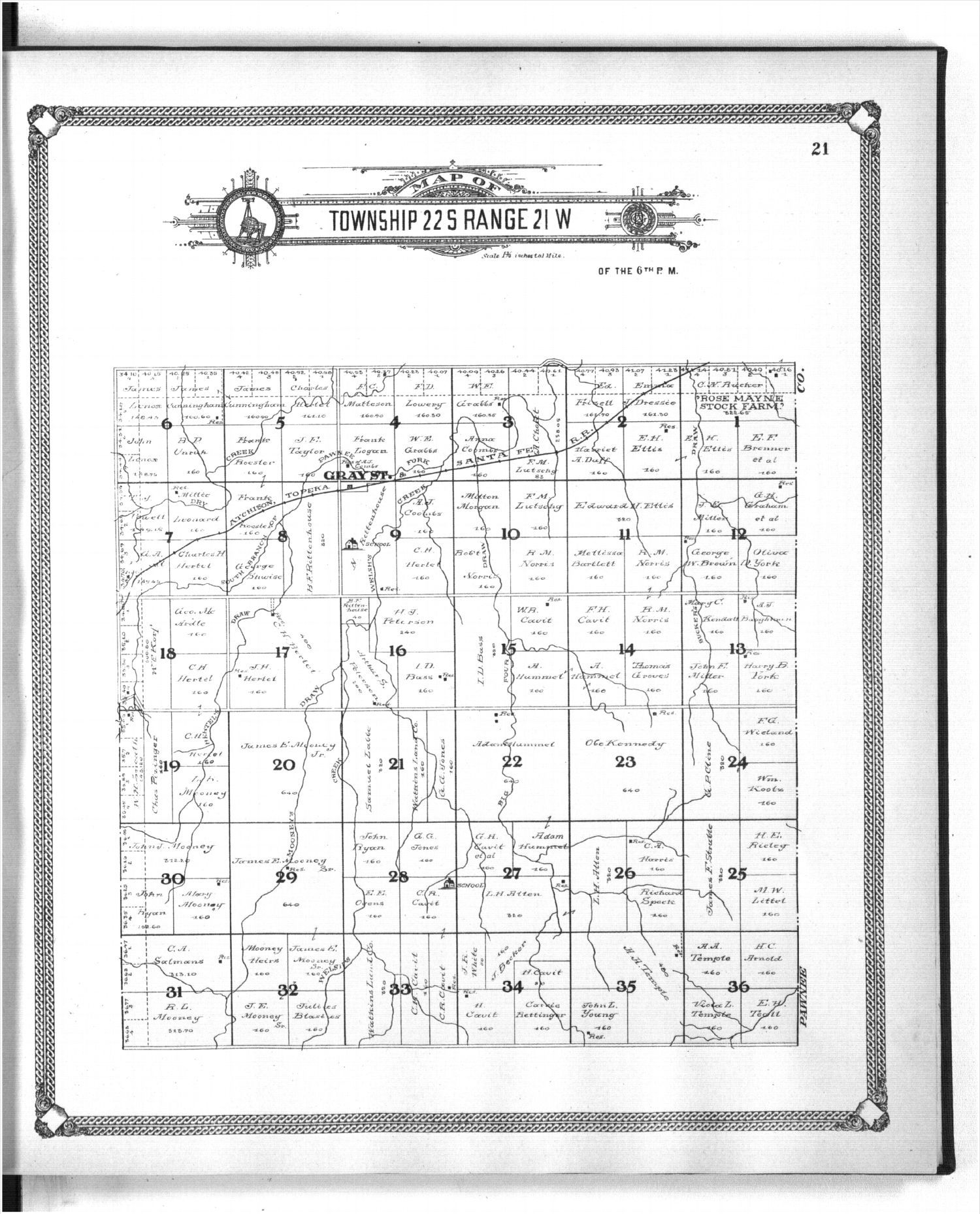 Standard atlas of Hodgeman County, Kansas - 21