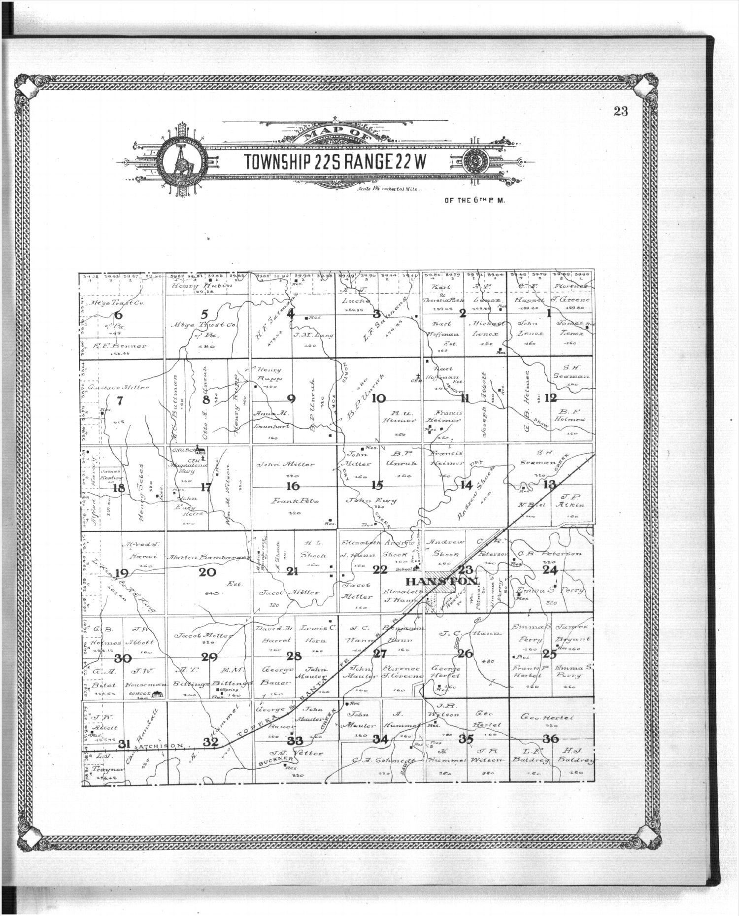Standard atlas of Hodgeman County, Kansas - 23
