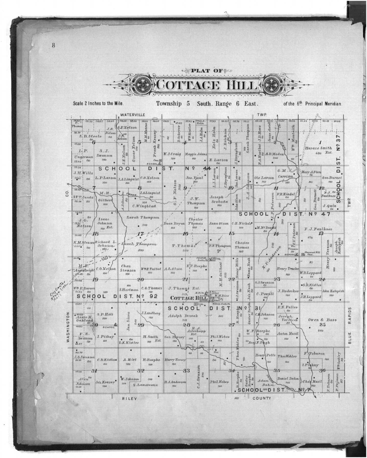 Plat book of Marshall County, Kansas - 8