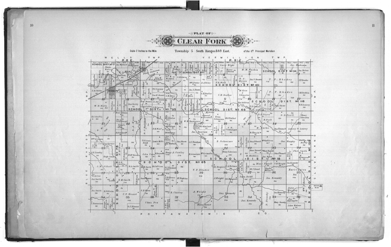 Plat book of Marshall County, Kansas - 10 &  11