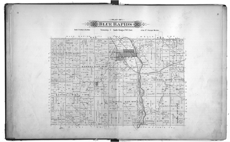 Plat book of Marshall County, Kansas - 14 & 15