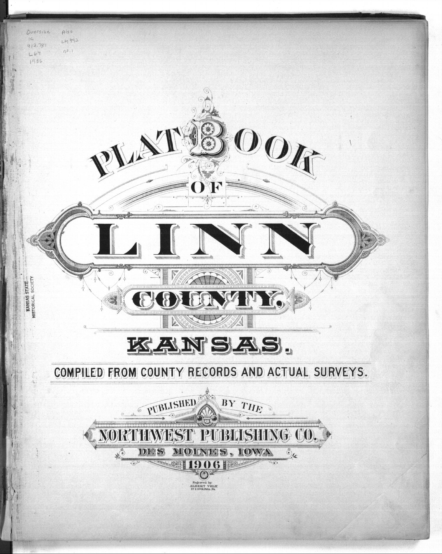 Plat book of Linn County, Kansas - Title Page