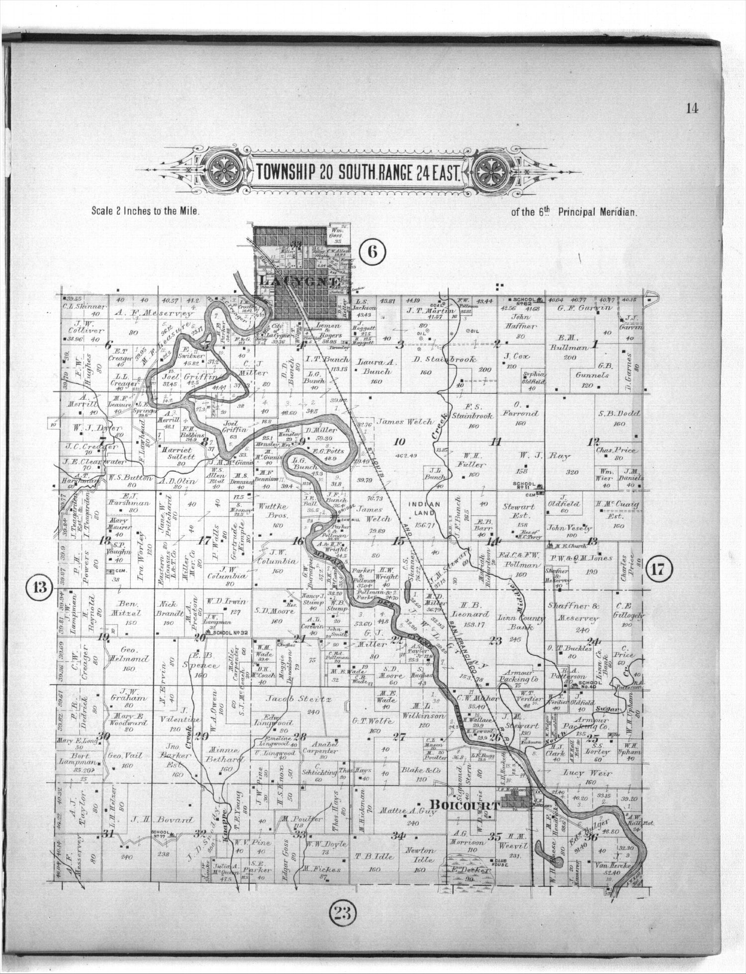 Plat book of Linn County, Kansas - 14