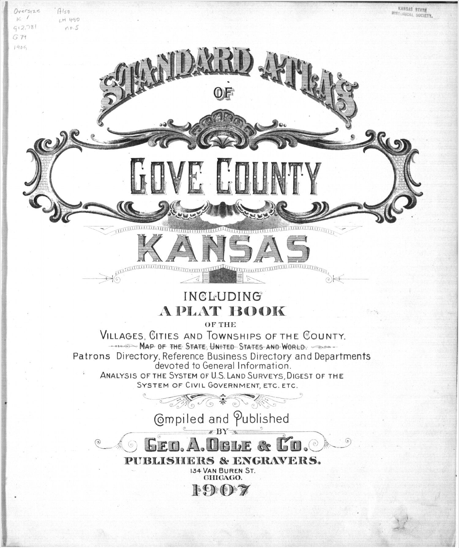 Standard atlas of Gove County, Kansas - Title Page