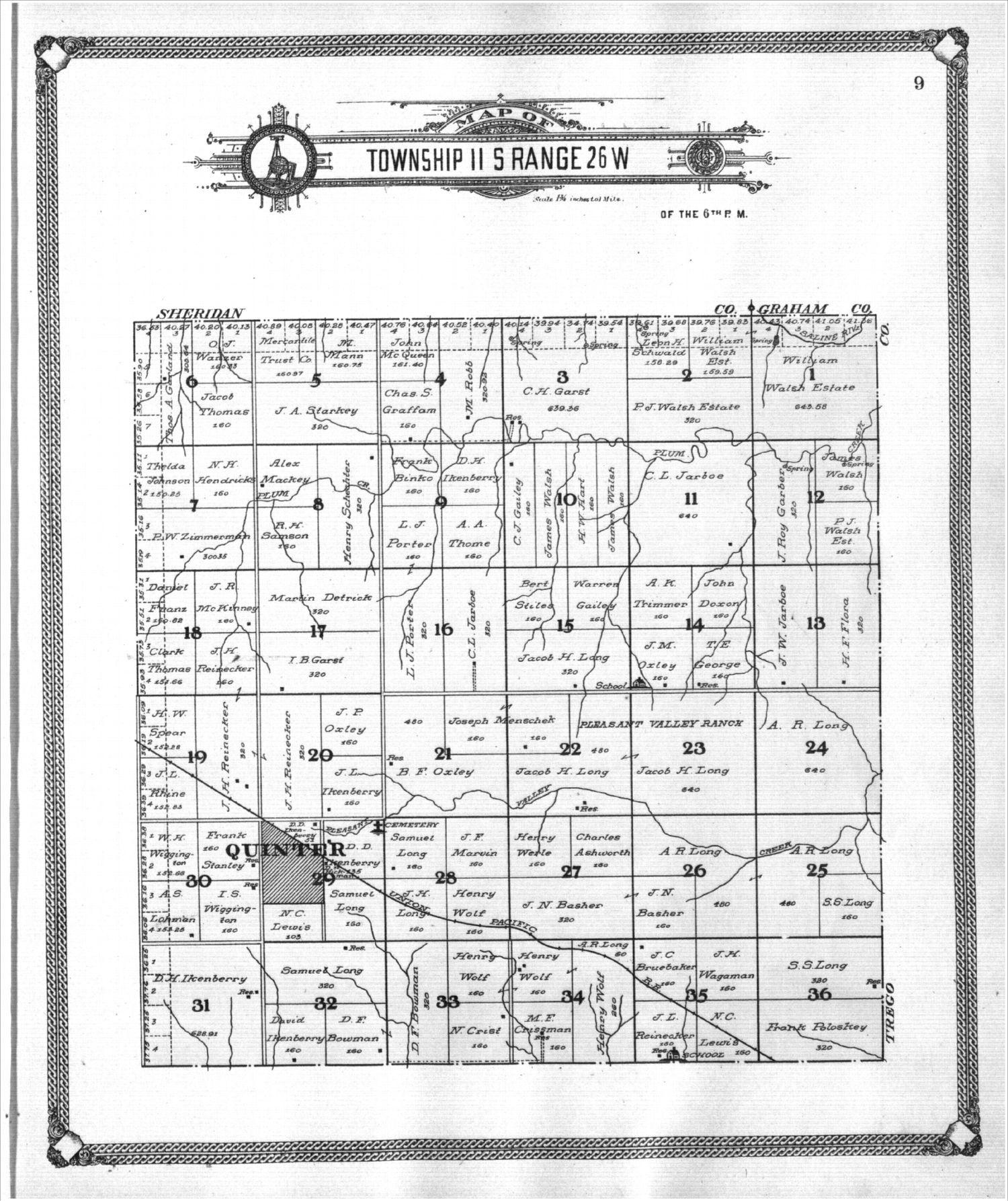 Standard atlas of Gove County, Kansas - 9