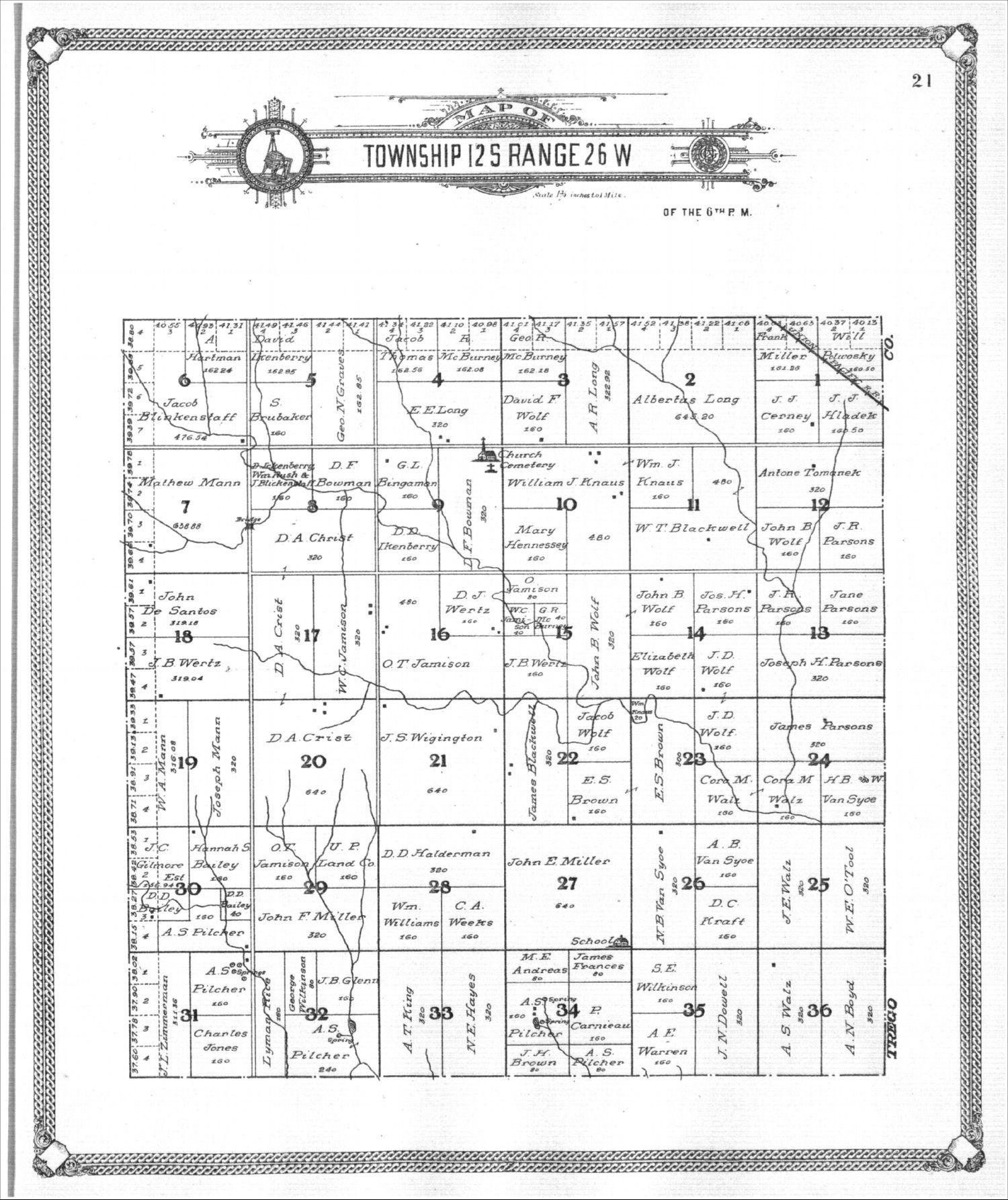 Standard atlas of Gove County, Kansas - 21