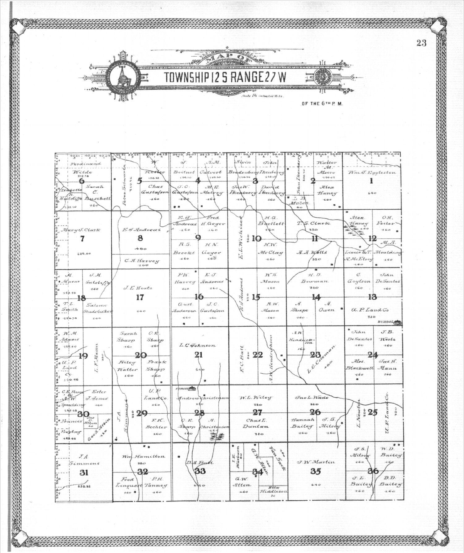 Standard atlas of Gove County, Kansas - 23