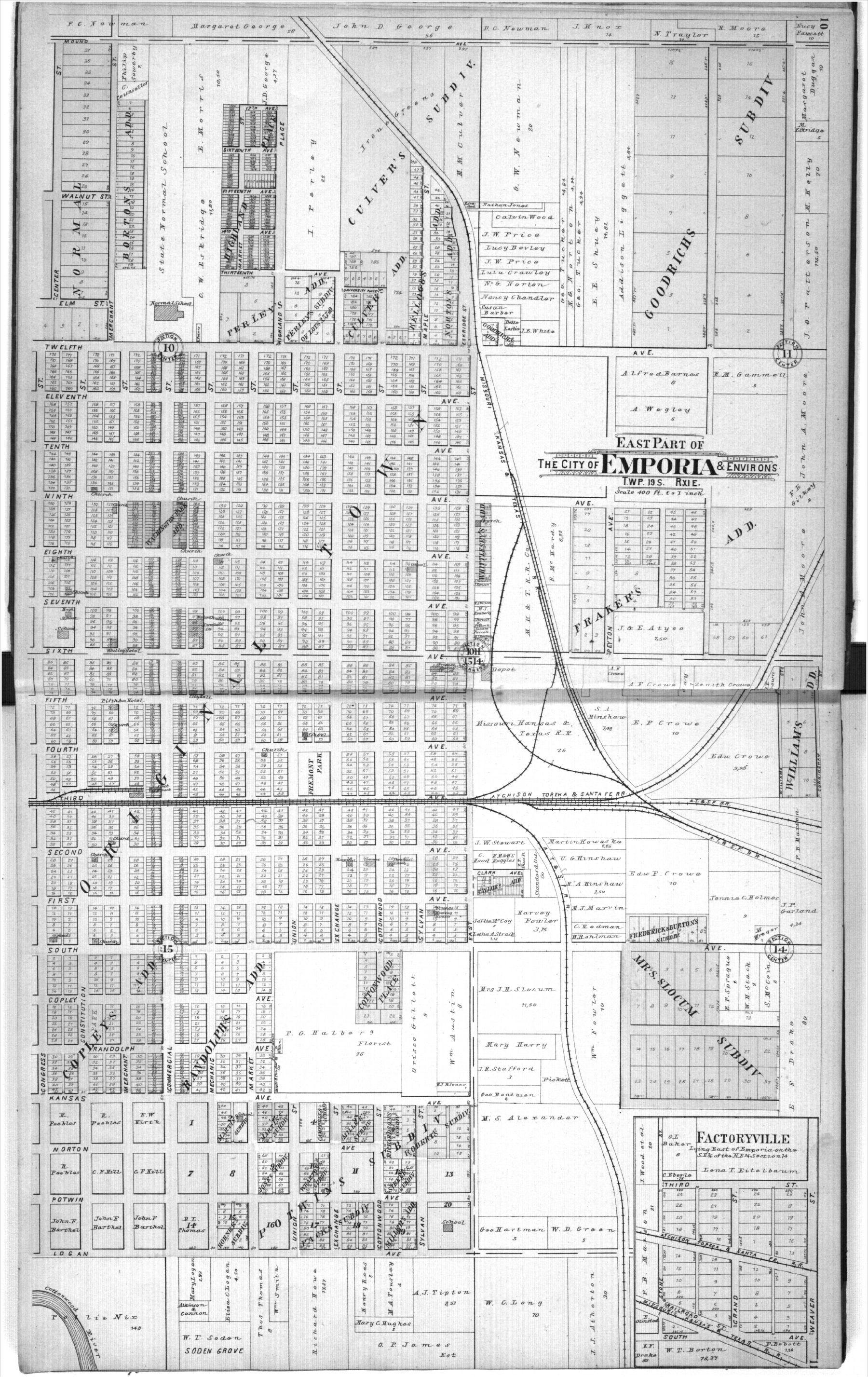 Standard atlas, Lyon County, Kansas - 10 &  11