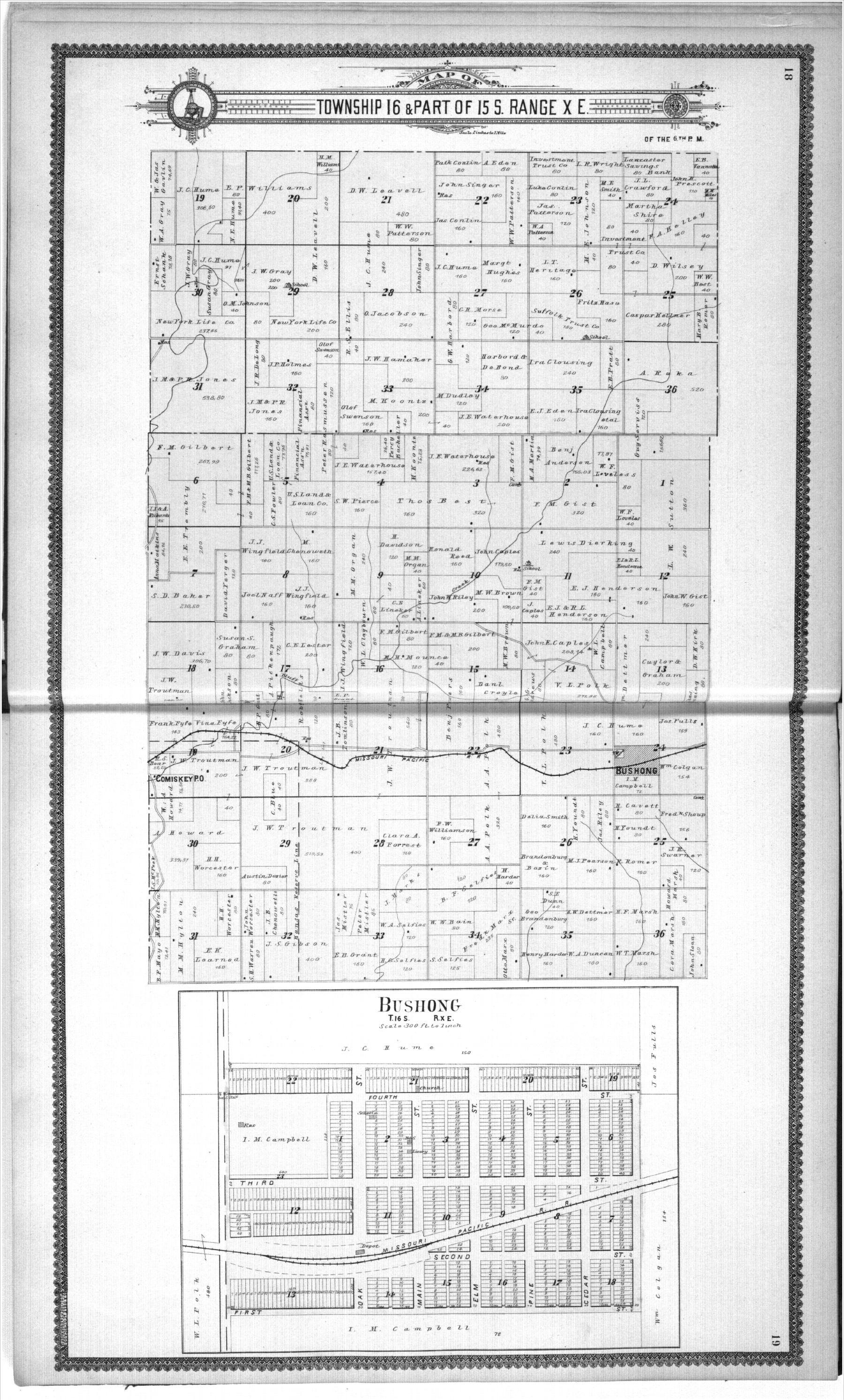 Standard atlas, Lyon County, Kansas - 18 & 19