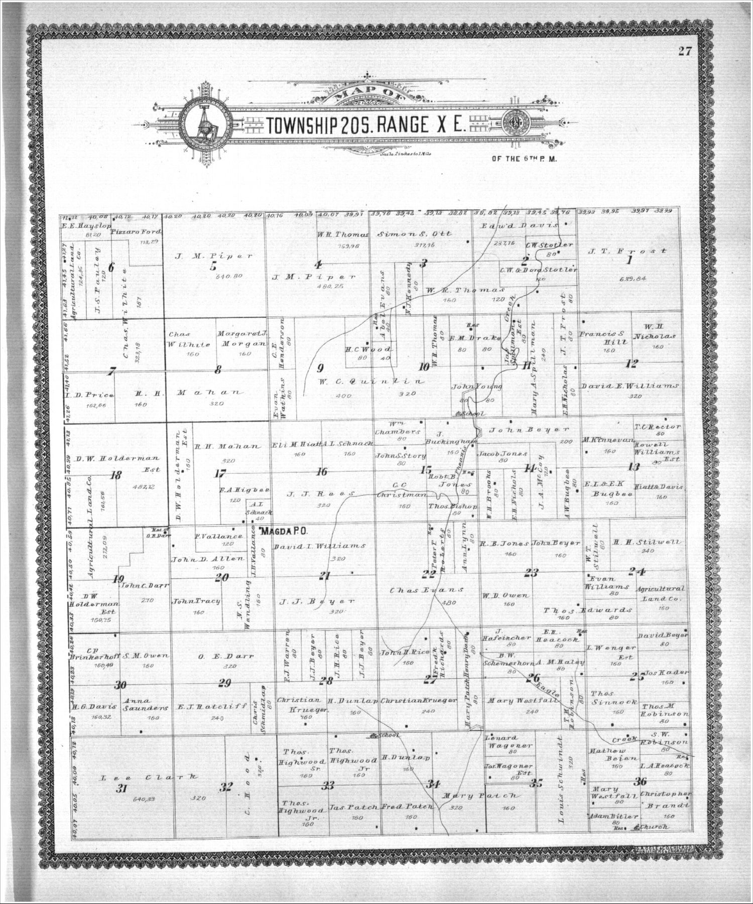 Standard atlas, Lyon County, Kansas - 27