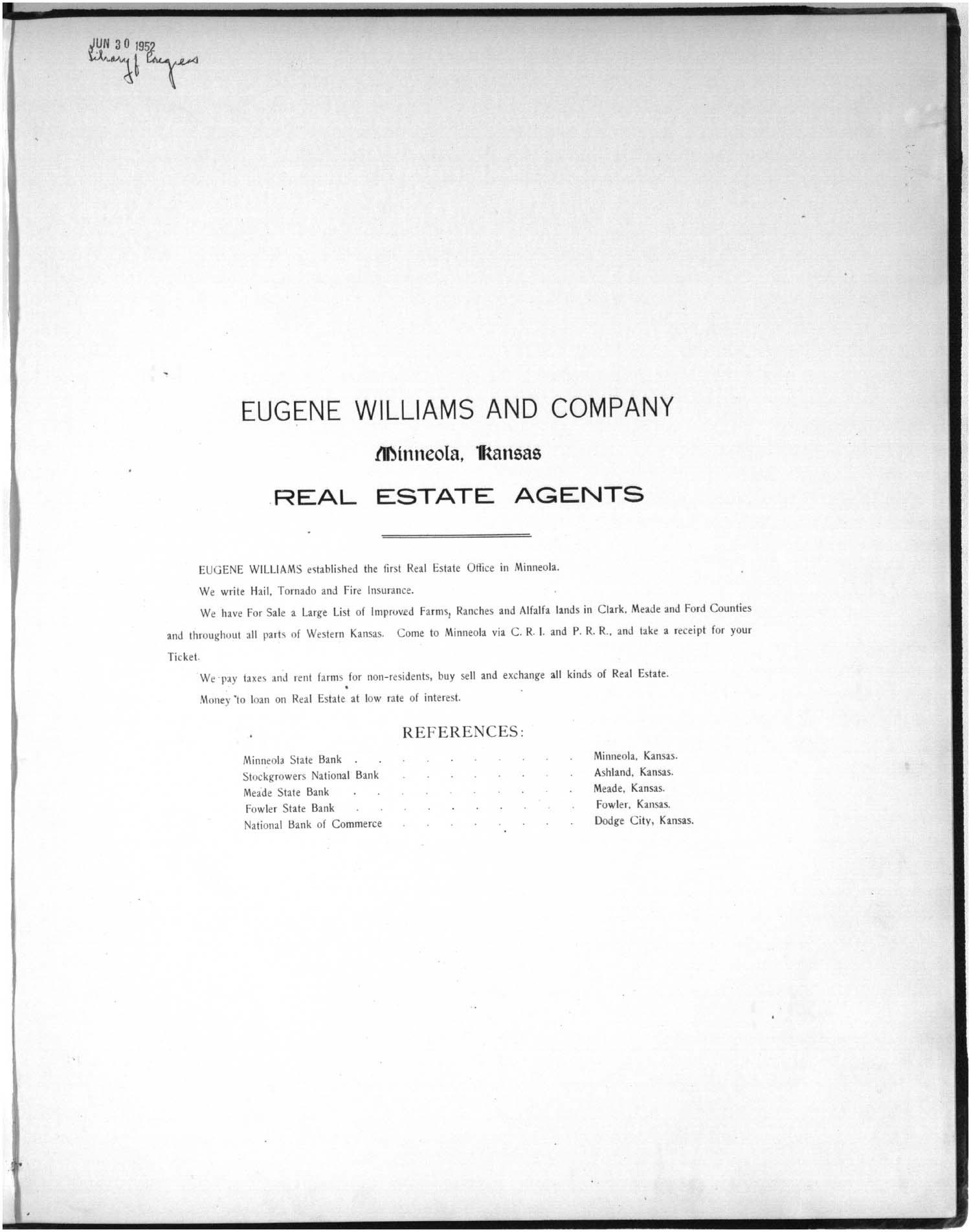 Plat book of Meade County, Kansas - 1