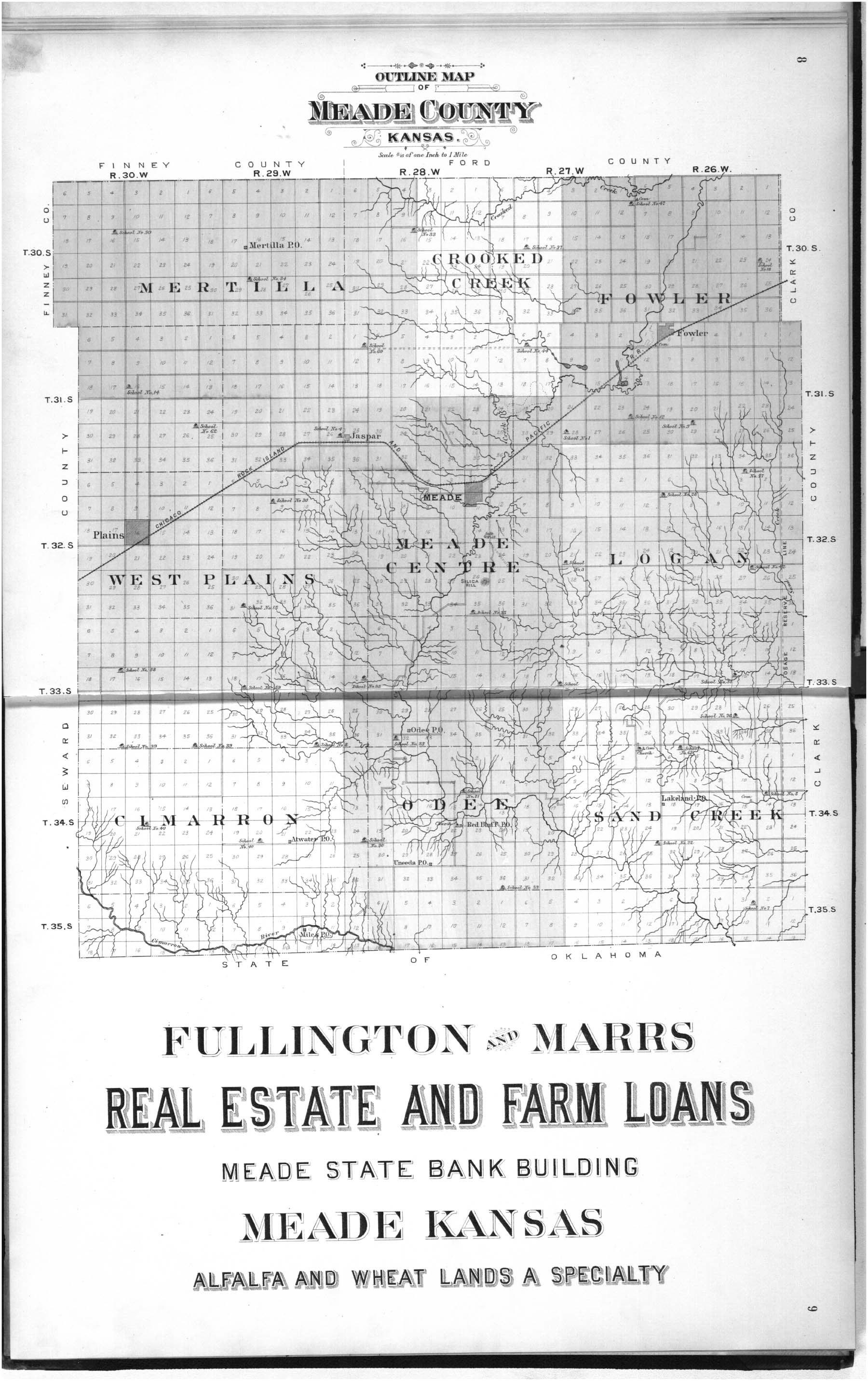 Plat book of Meade County, Kansas - 8 & 9