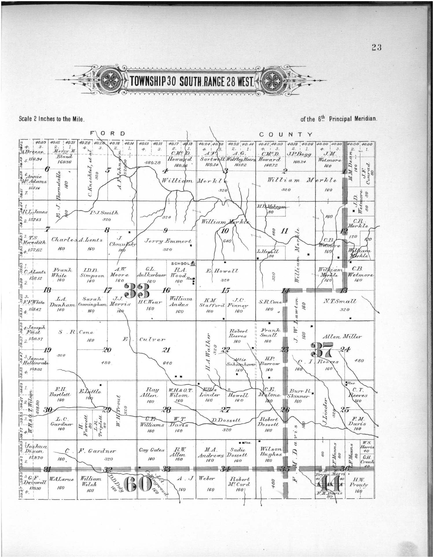 Plat book of Meade County, Kansas - 23