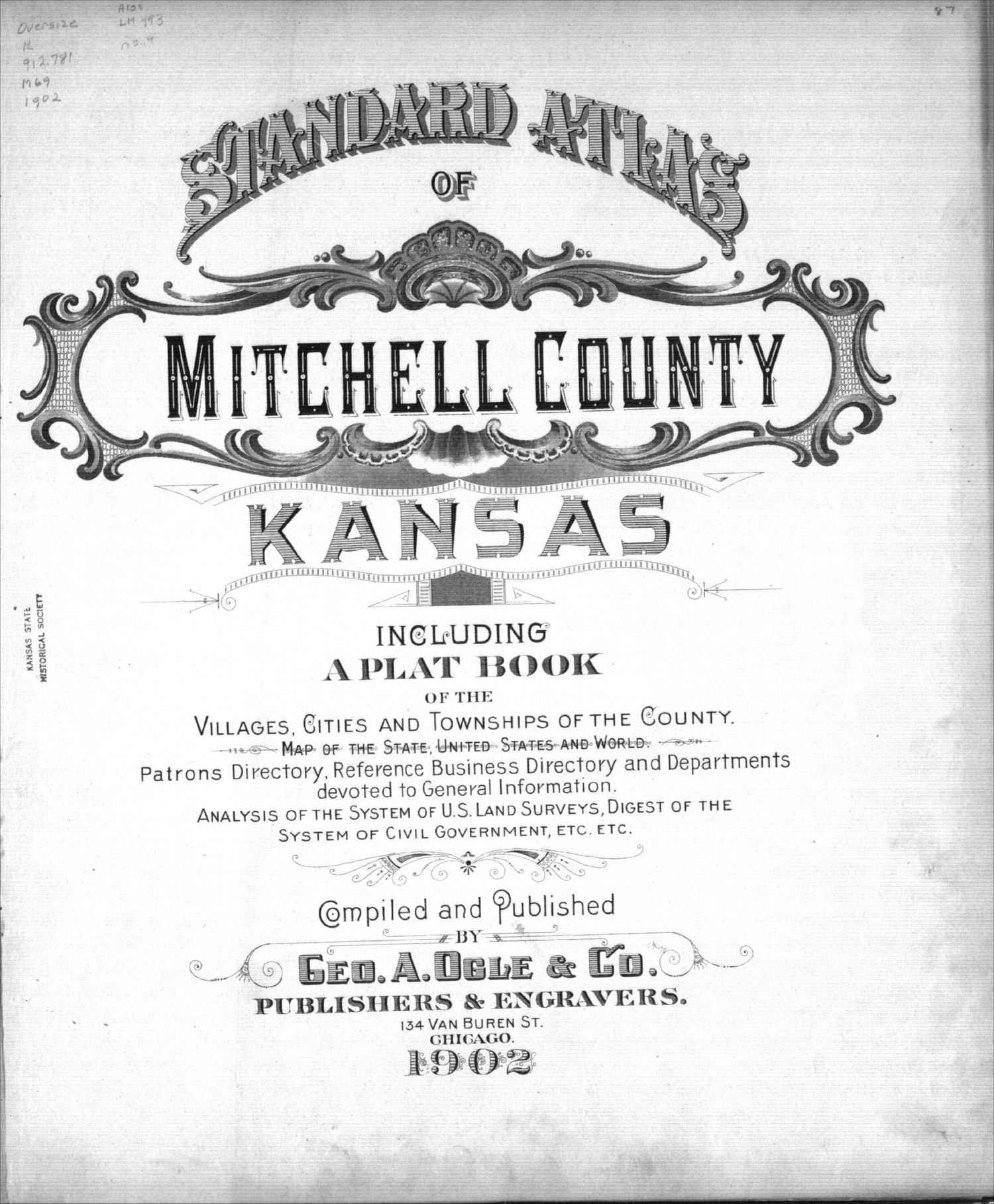 Standard atlas of Mitchell County, Kansas - Title Page