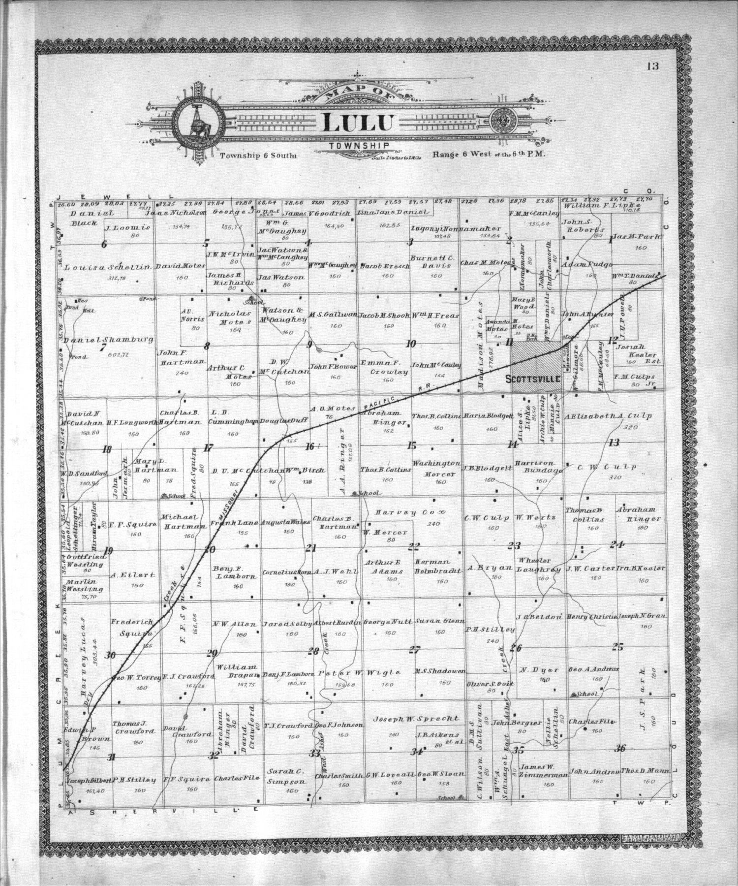 Standard atlas of Mitchell County, Kansas - 13