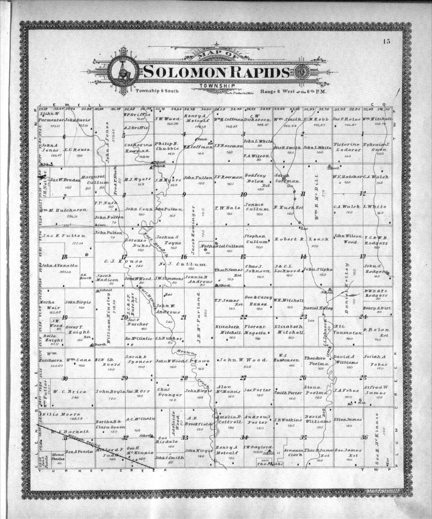 Standard atlas of Mitchell County, Kansas - 15