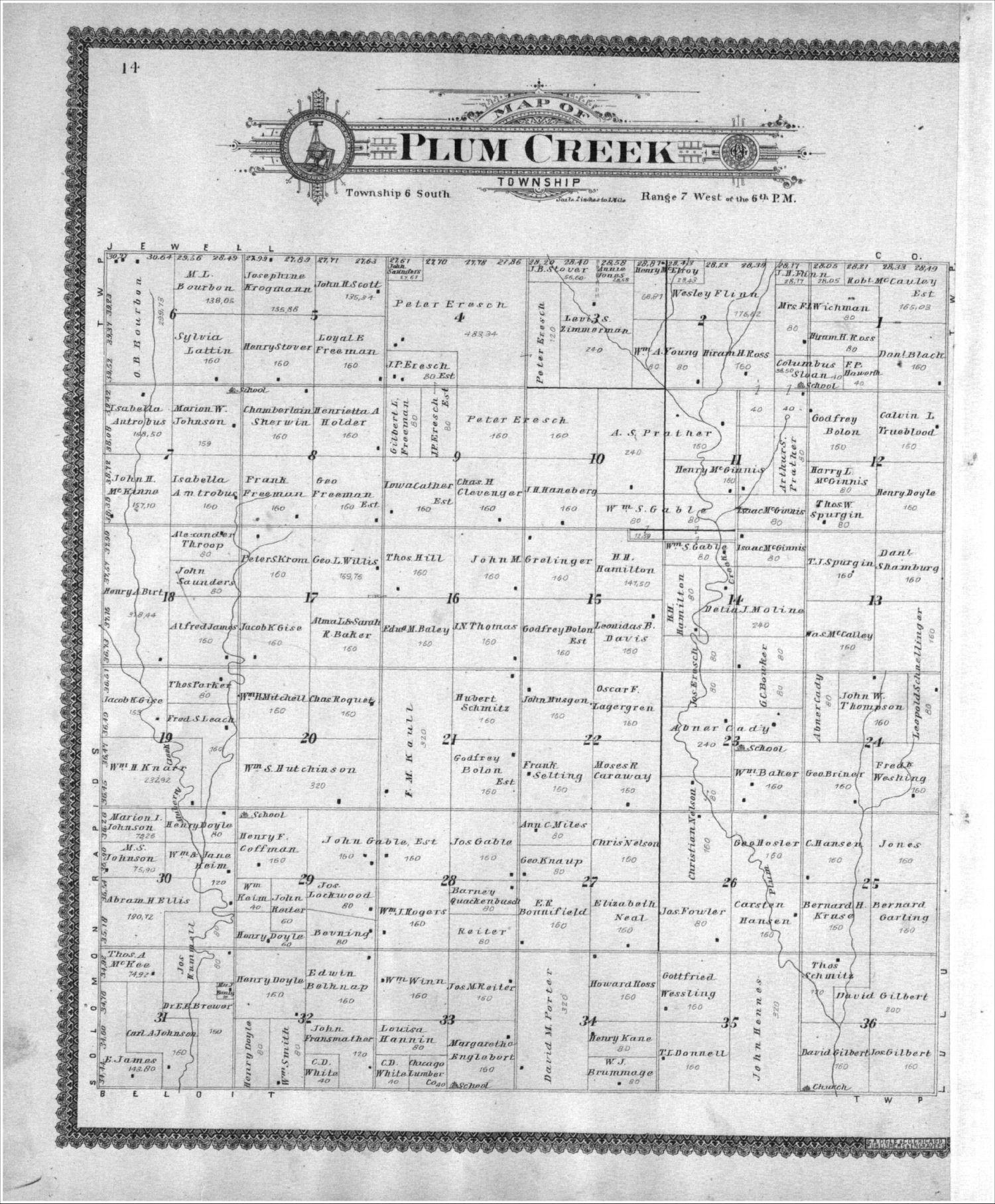 Standard atlas of Mitchell County, Kansas - 14