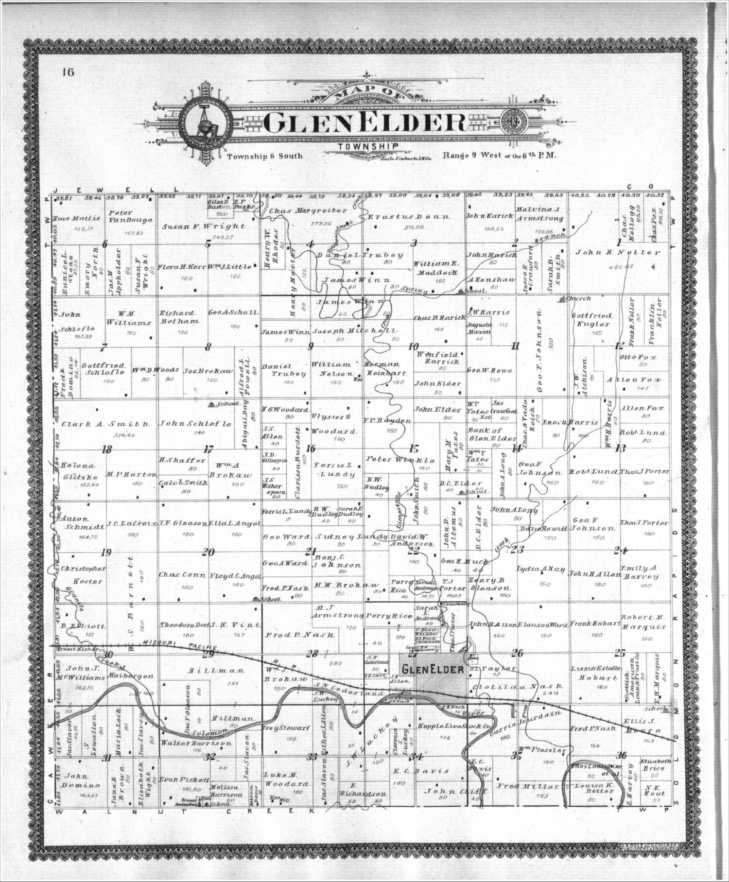 Standard atlas of Mitchell County, Kansas - 16