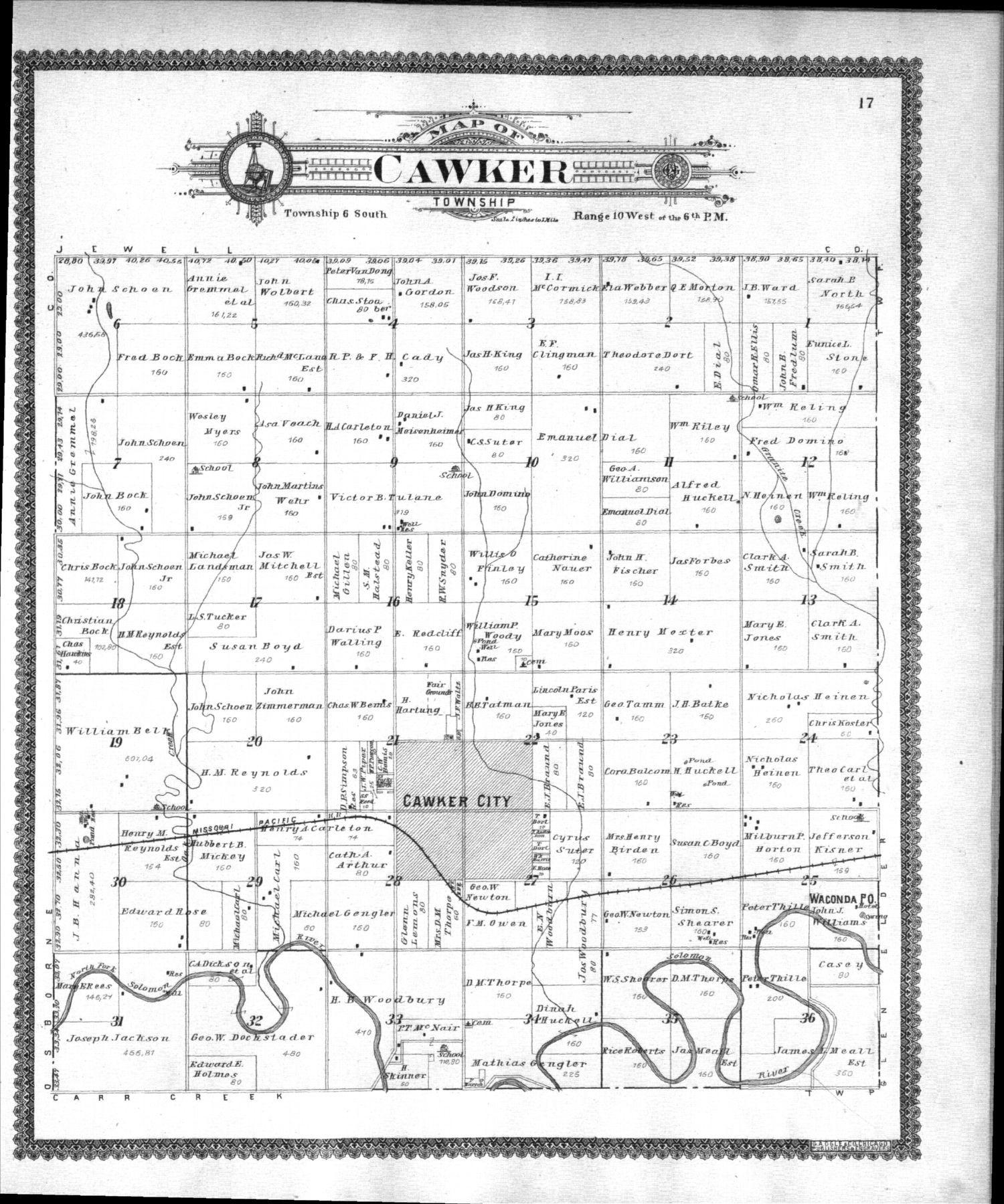 Standard atlas of Mitchell County, Kansas - 17