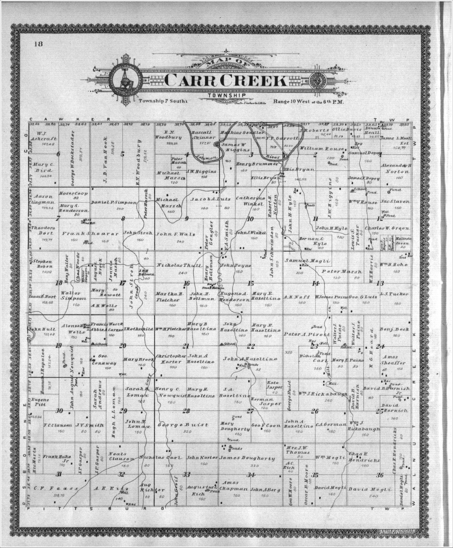 Standard atlas of Mitchell County, Kansas - 18