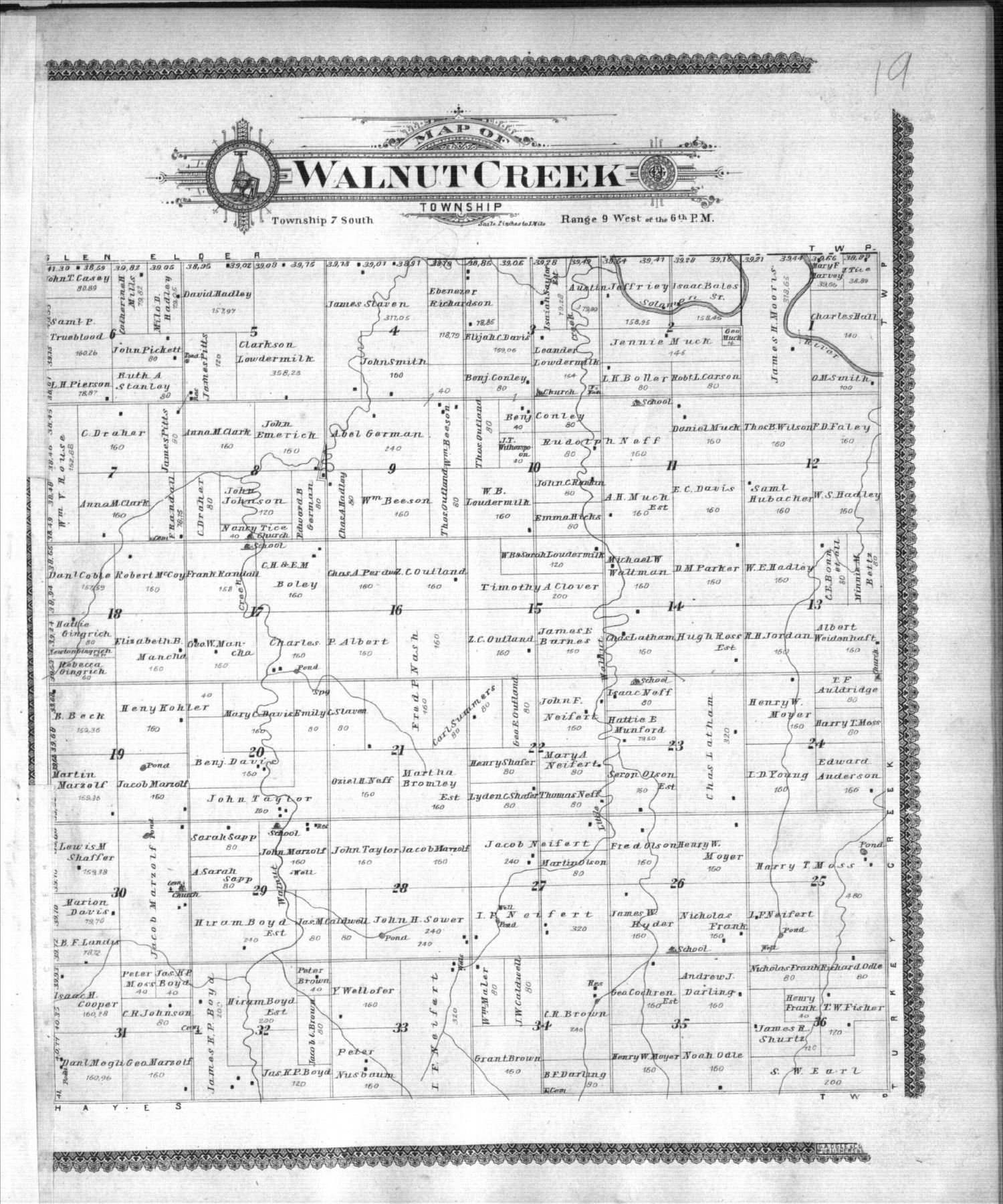 Standard atlas of Mitchell County, Kansas - 19