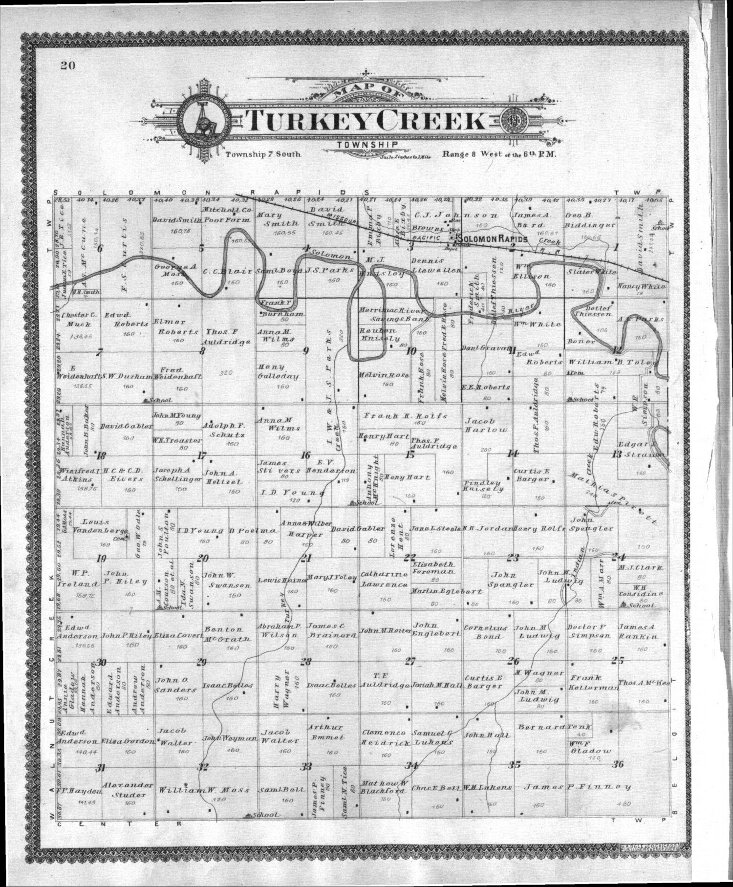 Standard atlas of Mitchell County, Kansas - 20