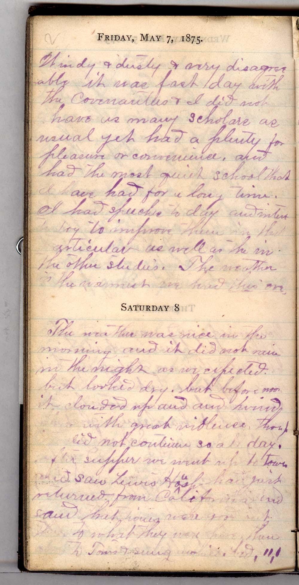 John William Gardiner diary - 2