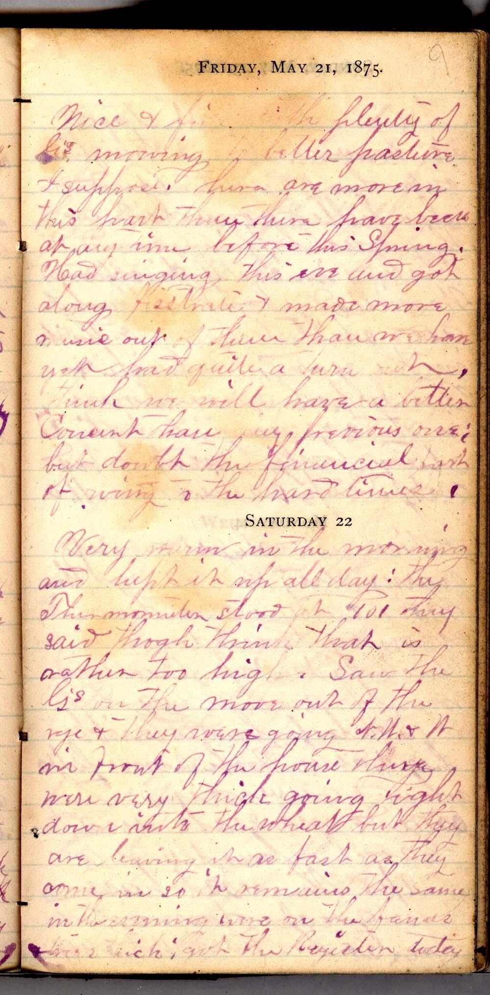 John William Gardiner diary - 9