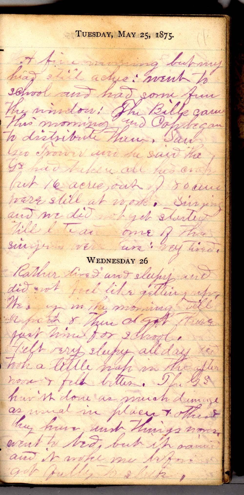 John William Gardiner diary - 11
