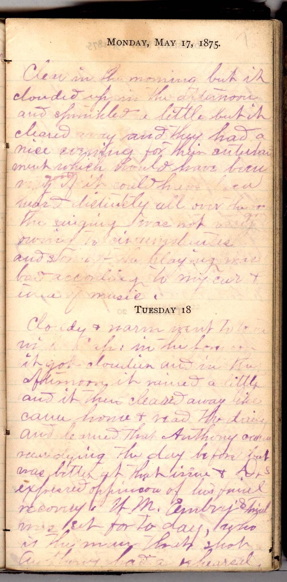 John William Gardiner diary - 7