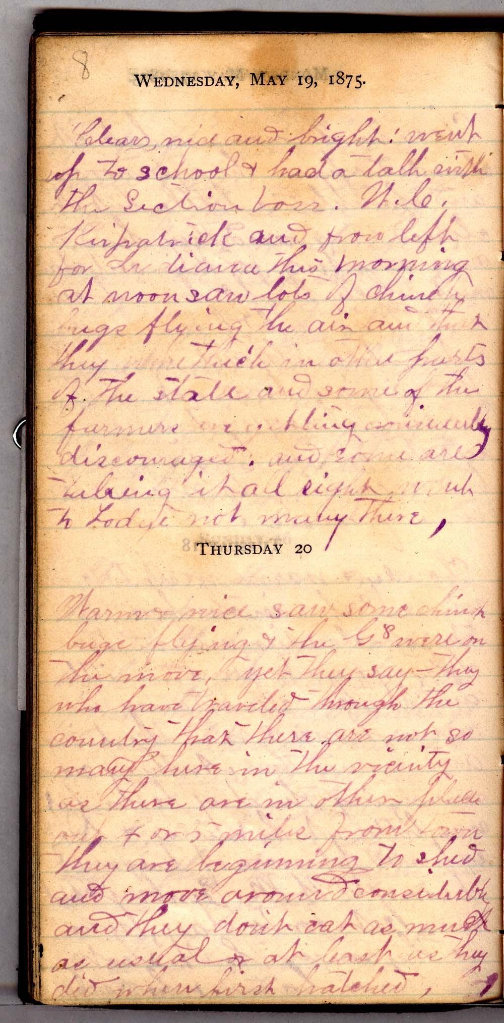 John William Gardiner diary - 8