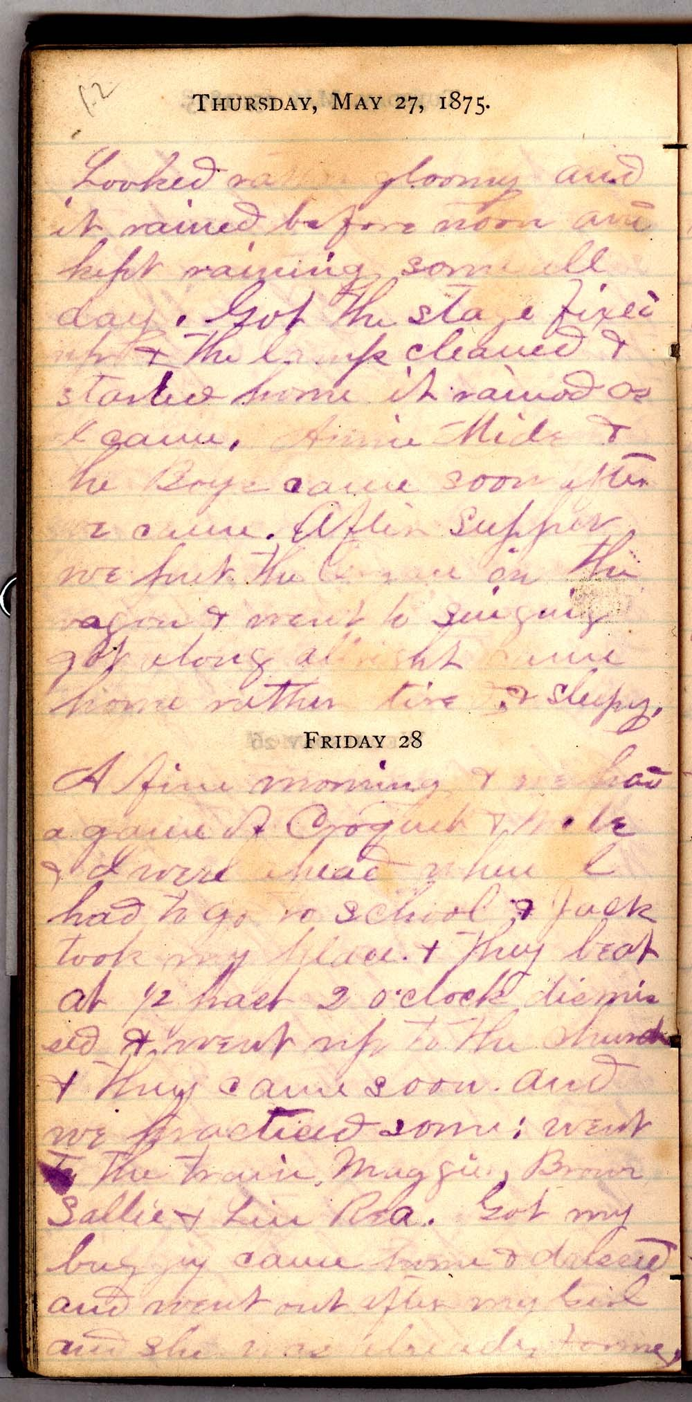 John William Gardiner diary - 12