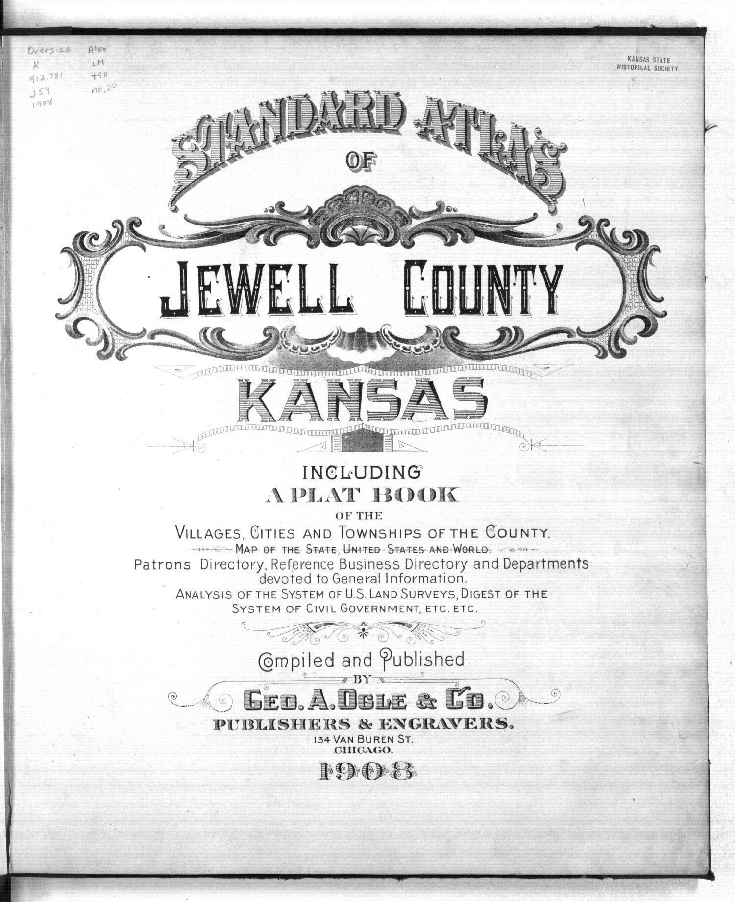 Standard atlas of Jewell County, Kansas - Title Page