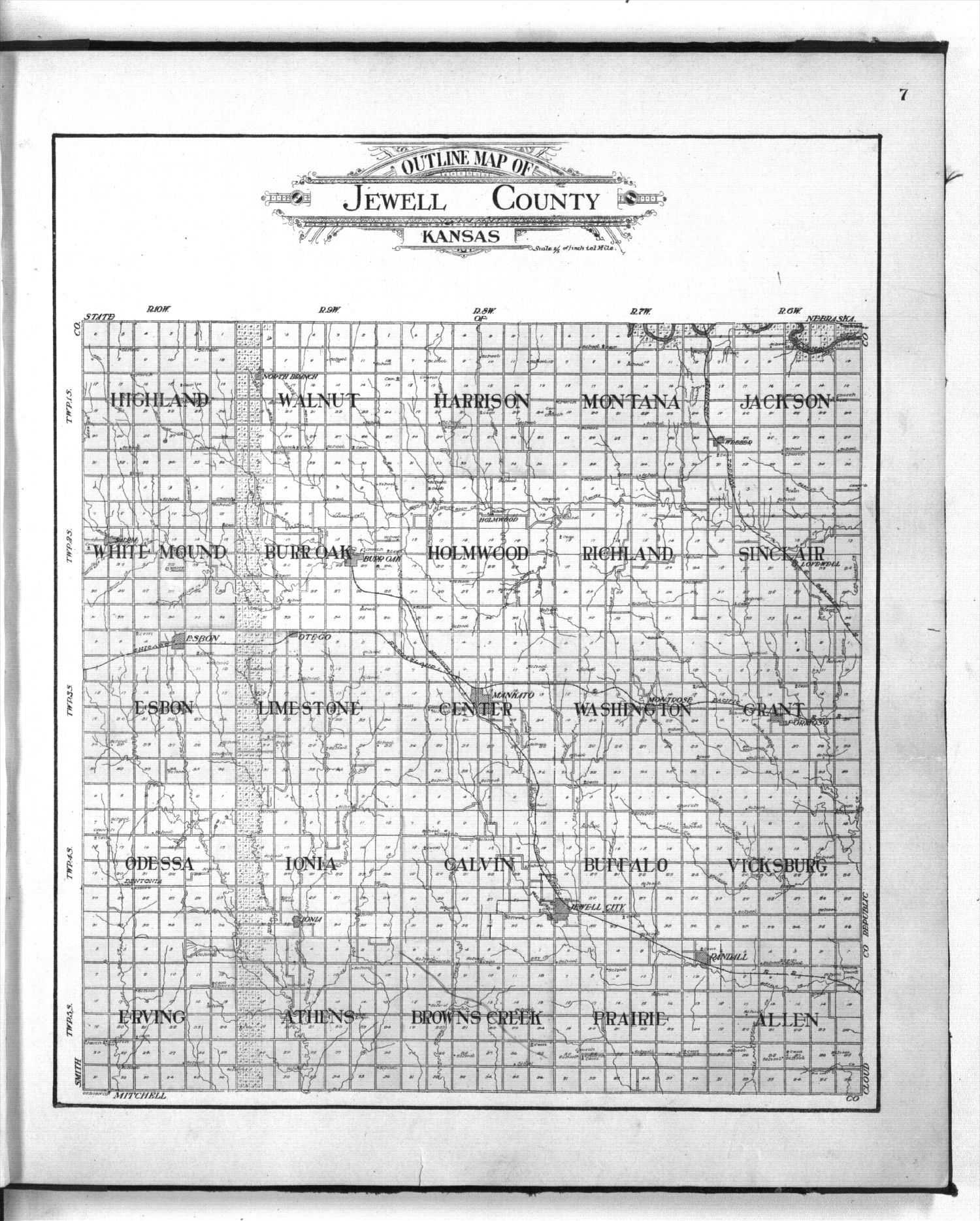 Standard atlas of Jewell County, Kansas - 7
