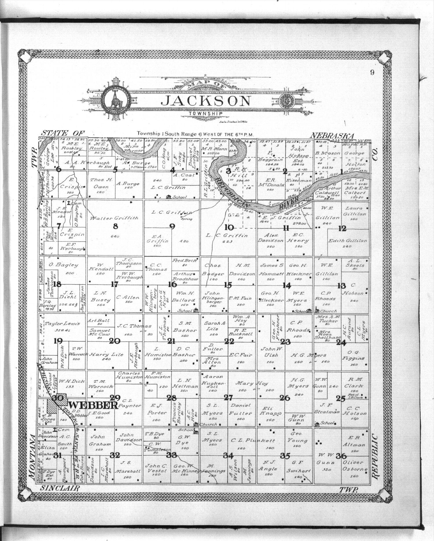 Standard atlas of Jewell County, Kansas - 9