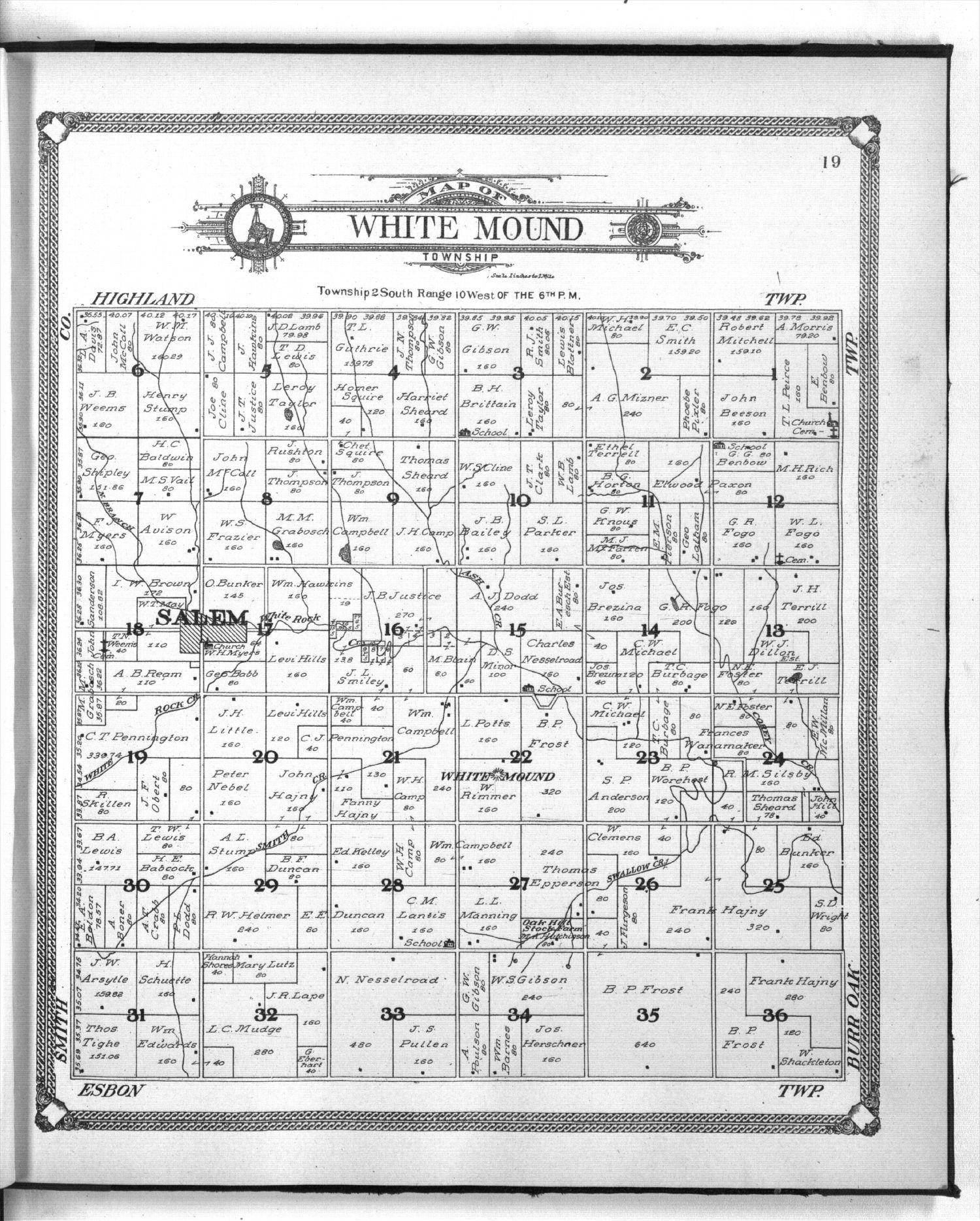 Standard atlas of Jewell County, Kansas - 19