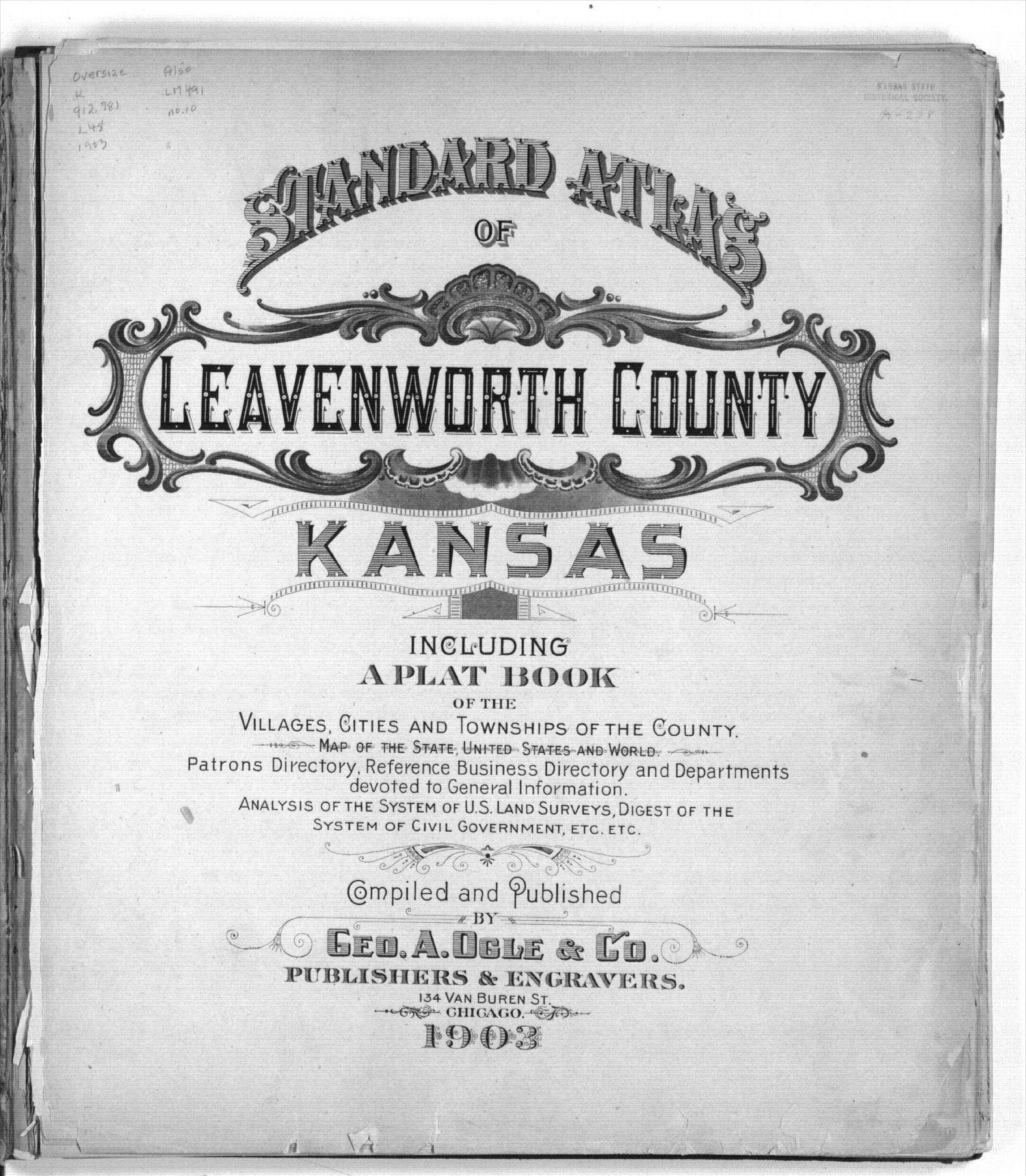 Standard atlas of Leavenworth County, Kansas - Title Page