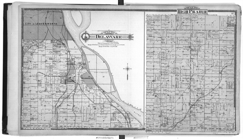 Standard atlas of Leavenworth County, Kansas - 16 & 17