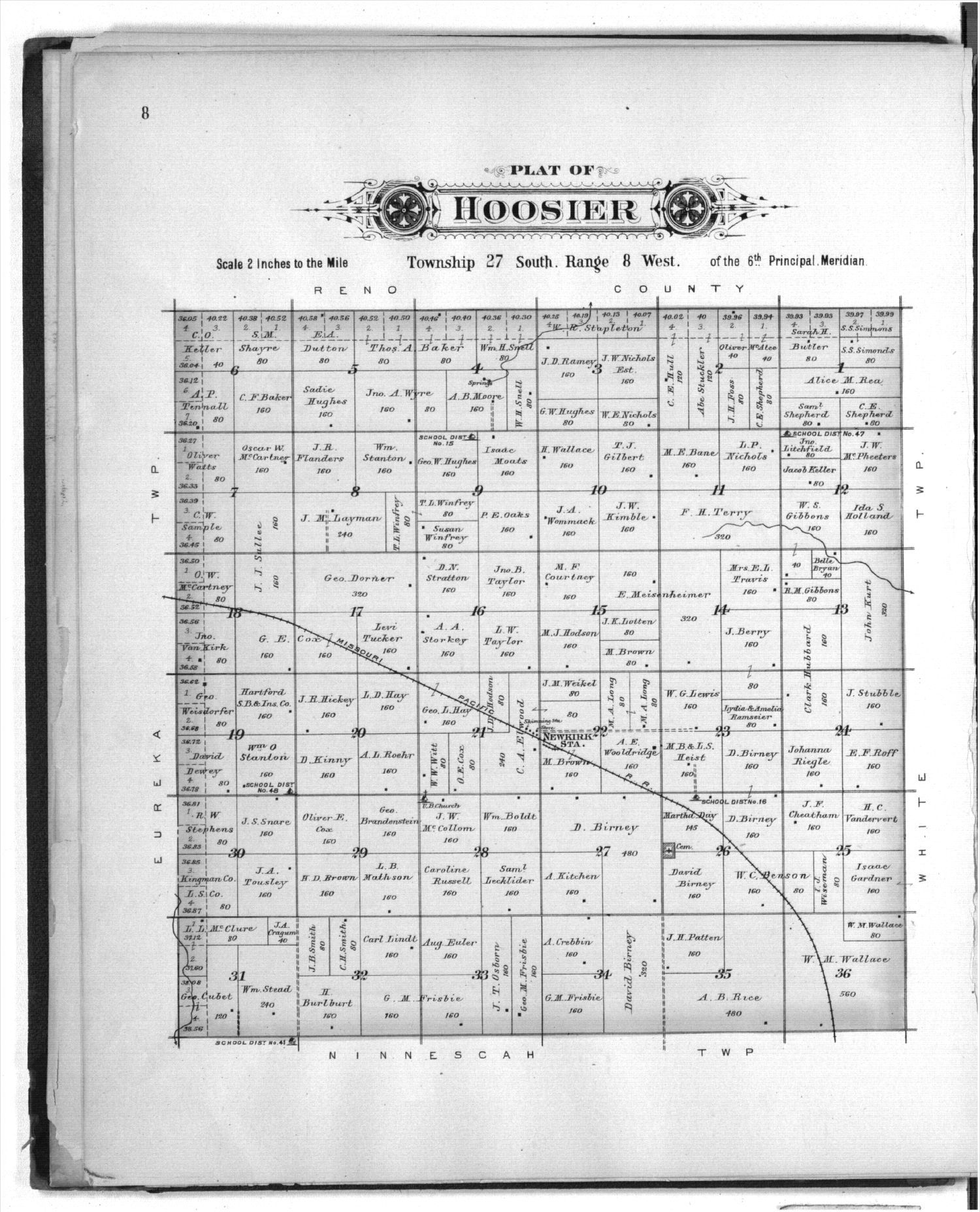Plat book of Kingman County, Kansas - 8