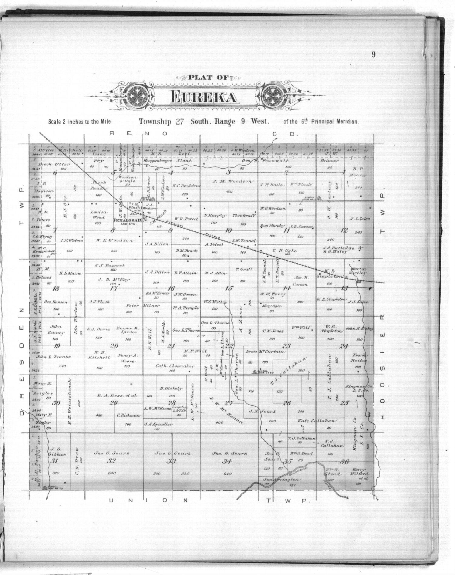 Plat book of Kingman County, Kansas - 9